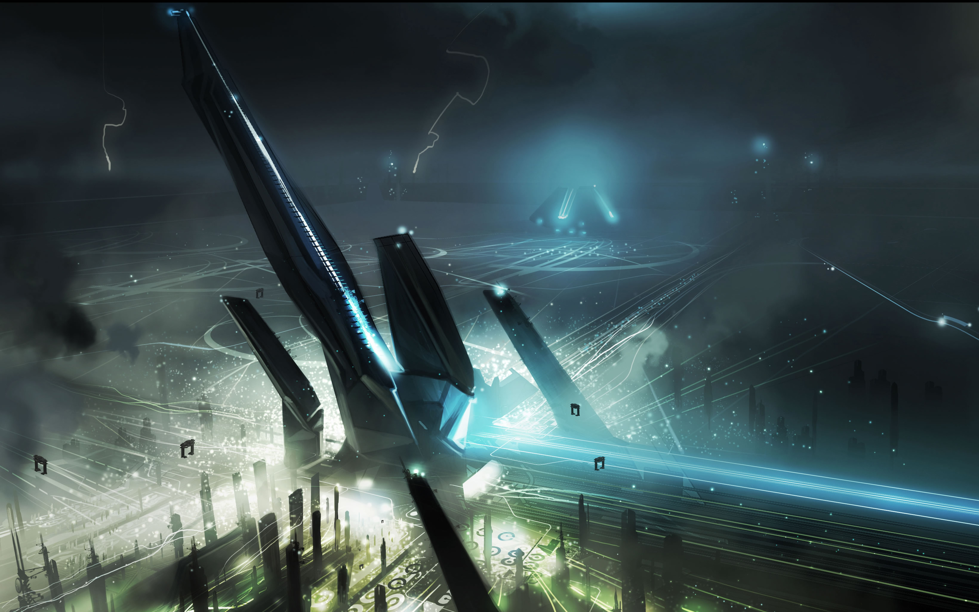 Movie – TRON: Legacy Spaceport Vehicle Spaceship Wallpaper