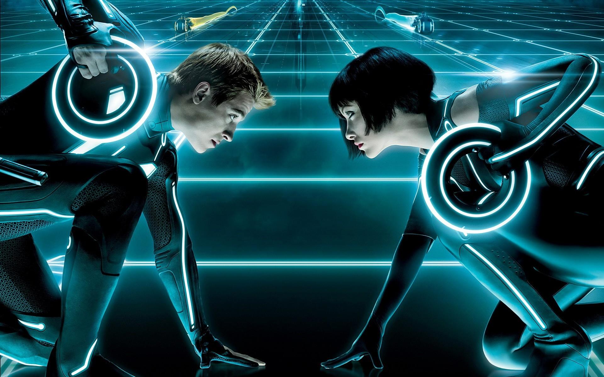 Movie – TRON: Legacy Movie Tron Futuristic Sci Fi Quorra (Tron) Garrett  Hedlund