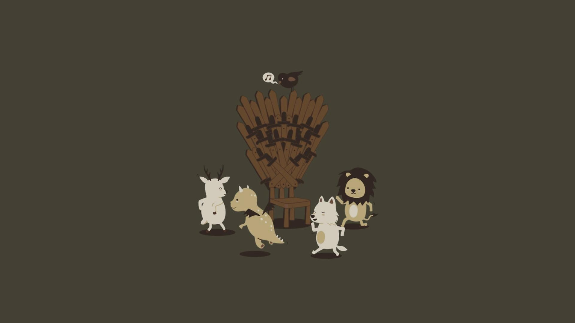 A Song Of Ice And Fire Dance Deer Dragons Funny Game Thrones House  Baratheon Lannister Stark Targaryen Lions Minimalistic Throne Wolves …
