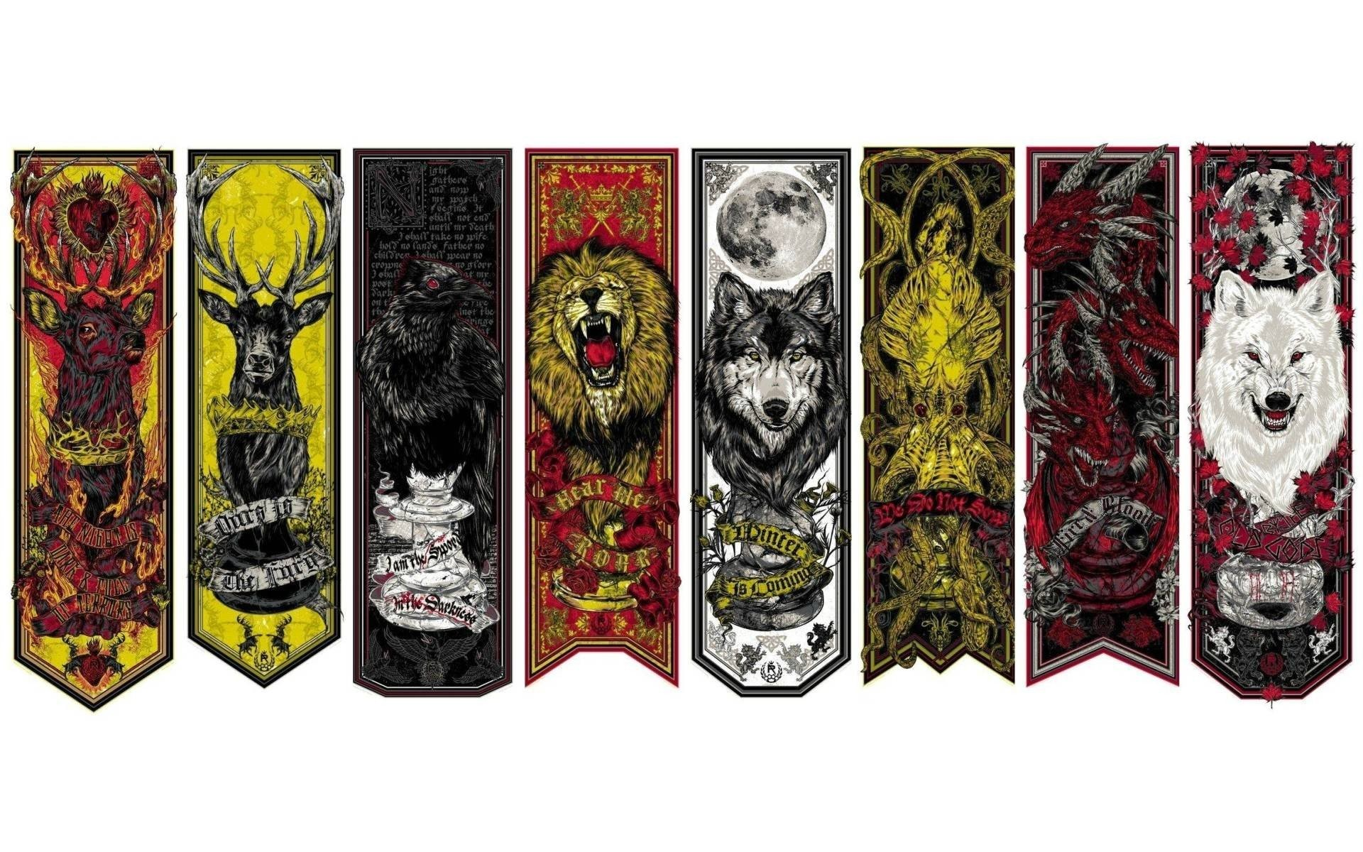 Game of Thrones house crests wallpaper, Game of Thrones house crests TV  Show HD desktop wallpaper