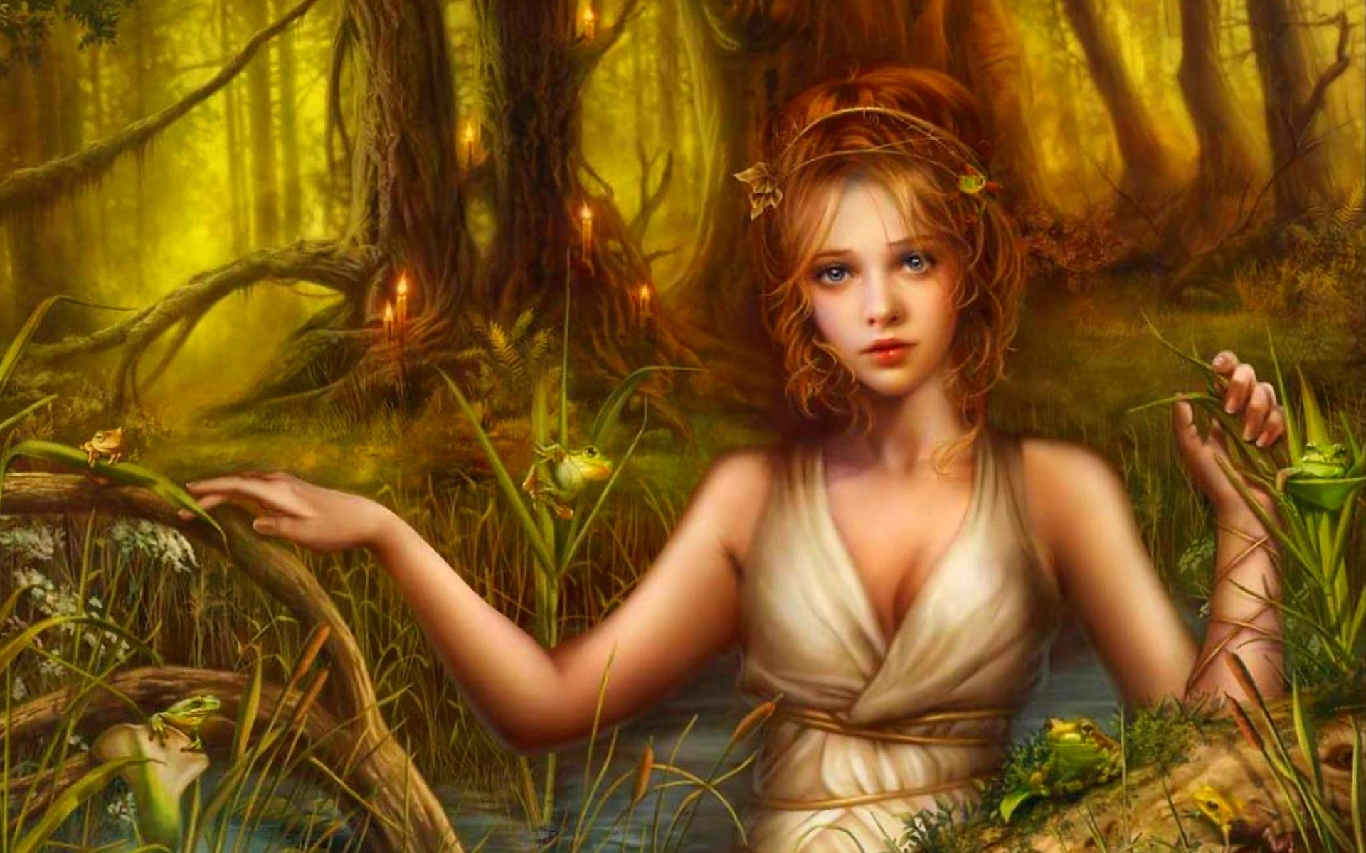 Water Elf & Frogs wallpapers and stock photos
