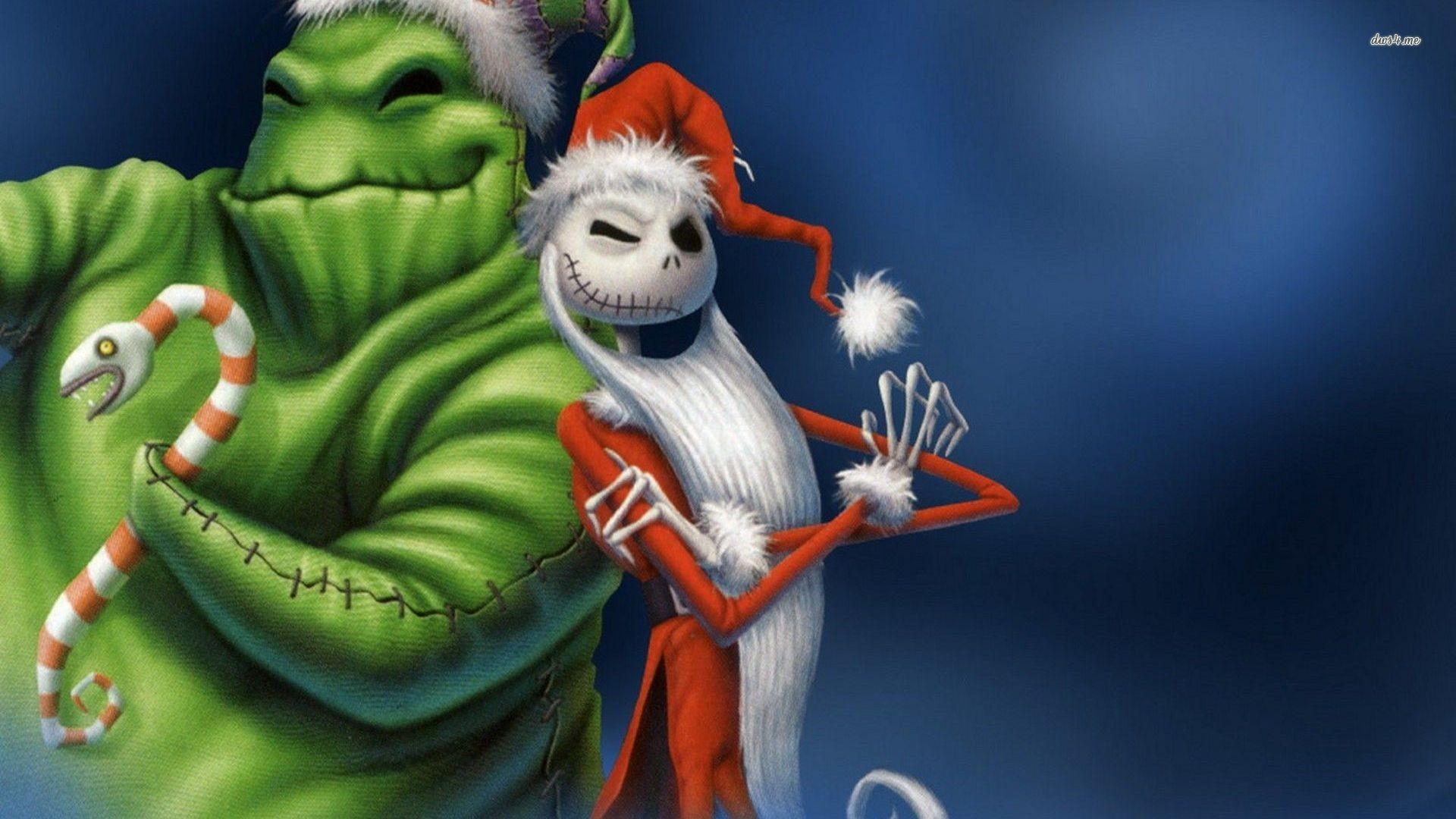 Oogie Boogie And Jack Skellington The Nightmare Before Chr Cartoon Hd  Wallpaper