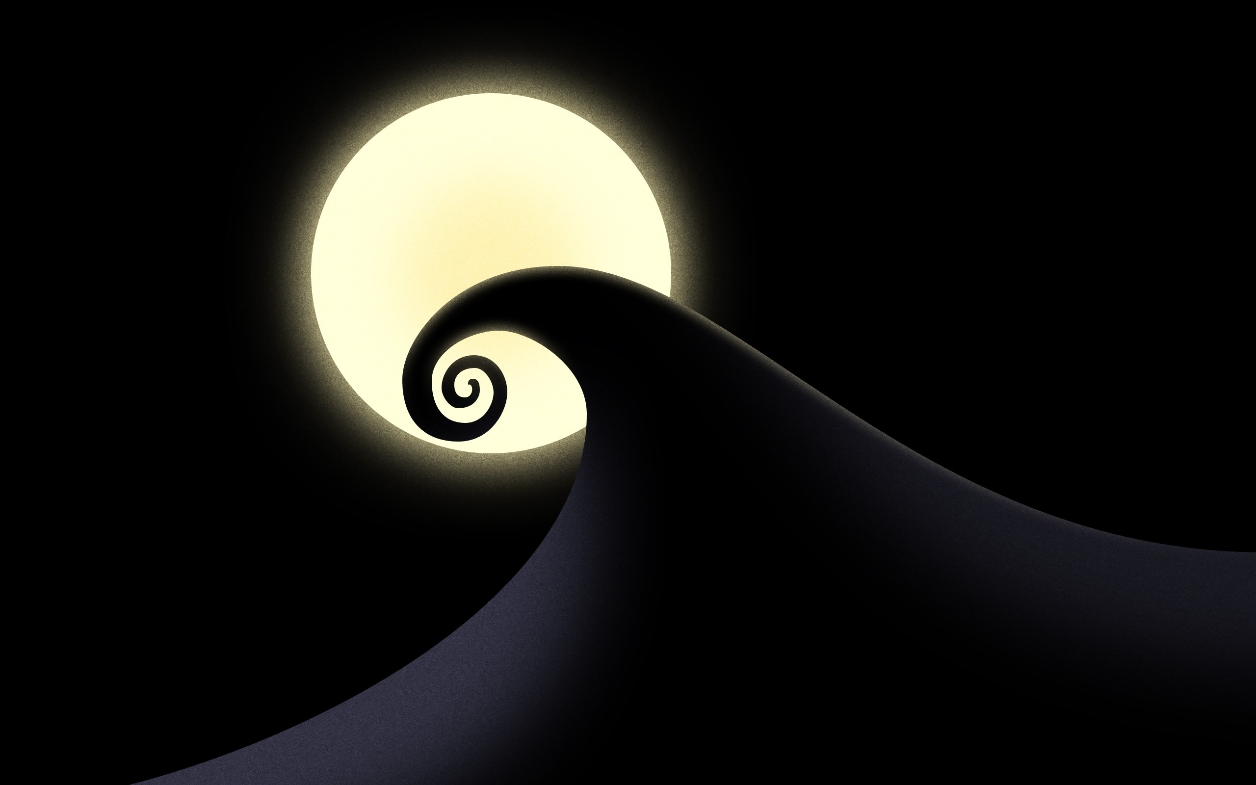 the nightmare before christmas moon swirl halloween background .