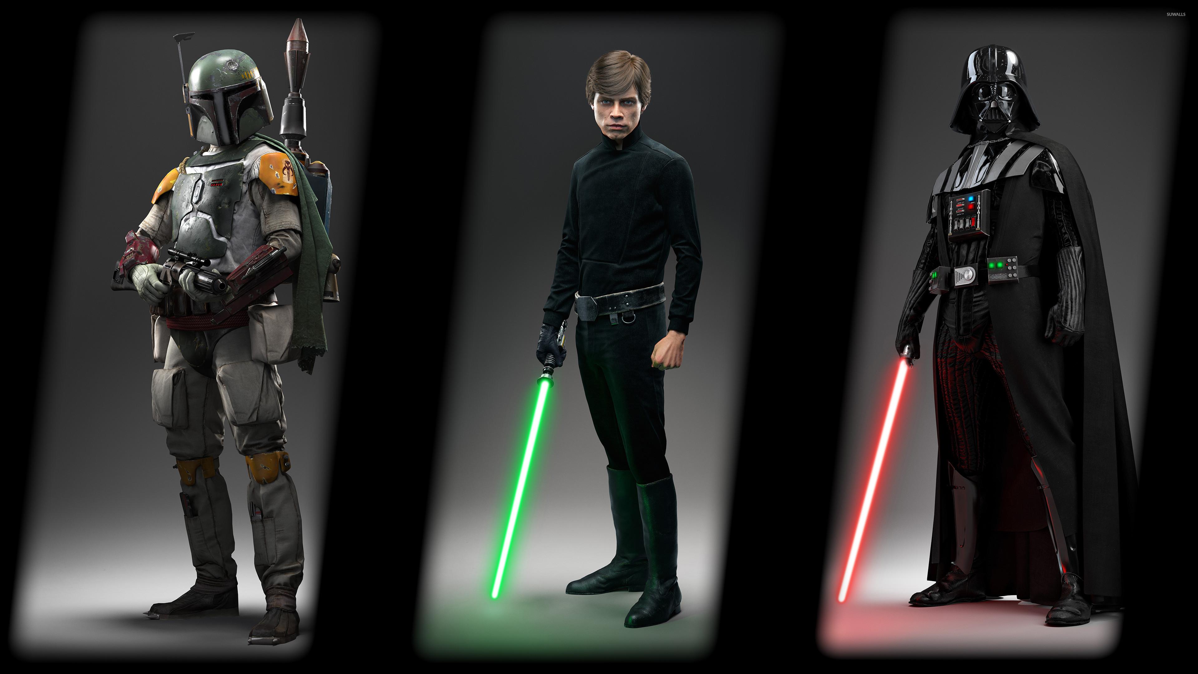 Boba Fett, Luke & Darth Vader – Star Wars Battlefront wallpaper