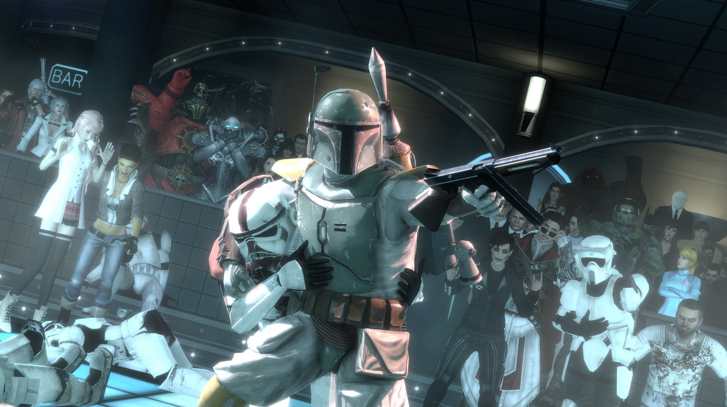 Boba Fett Star Wars Halo Devil May Cry Dante Warcraft Stormtroopers