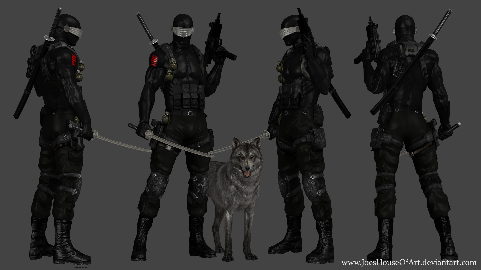 … G.I.Joe Snake Eyes custom 3D model by ShaunsArtHouse
