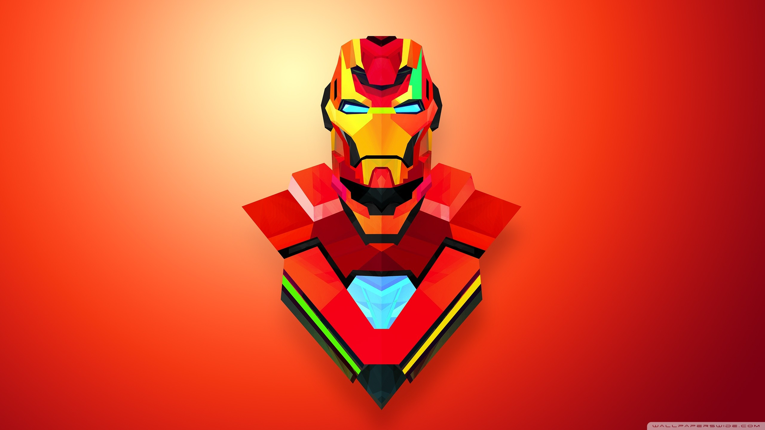 Iron Man Abstract Art HD Wide Wallpaper for Widescreen
