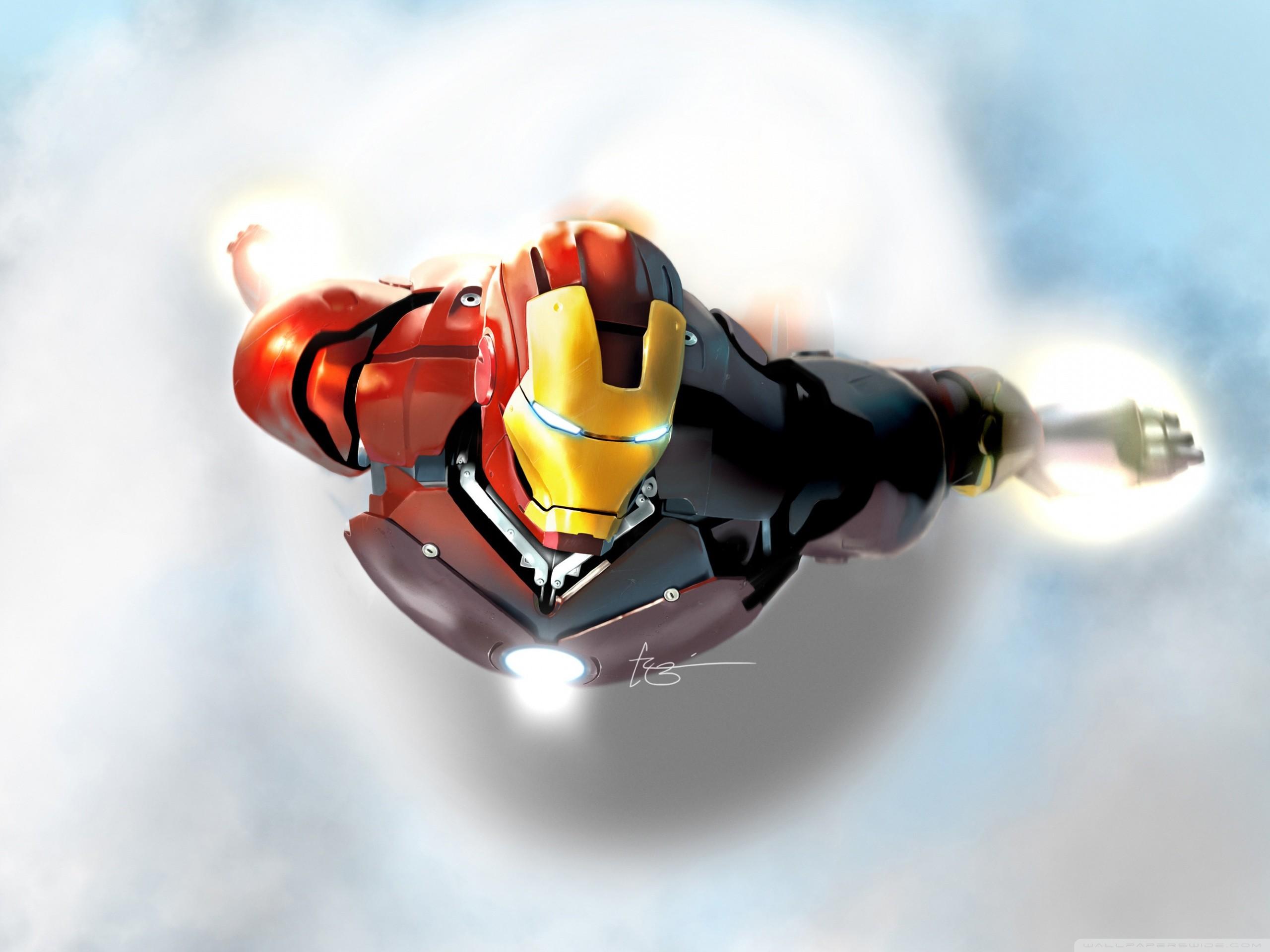 Iron Man In Flight HD Wide Wallpaper for Widescreen