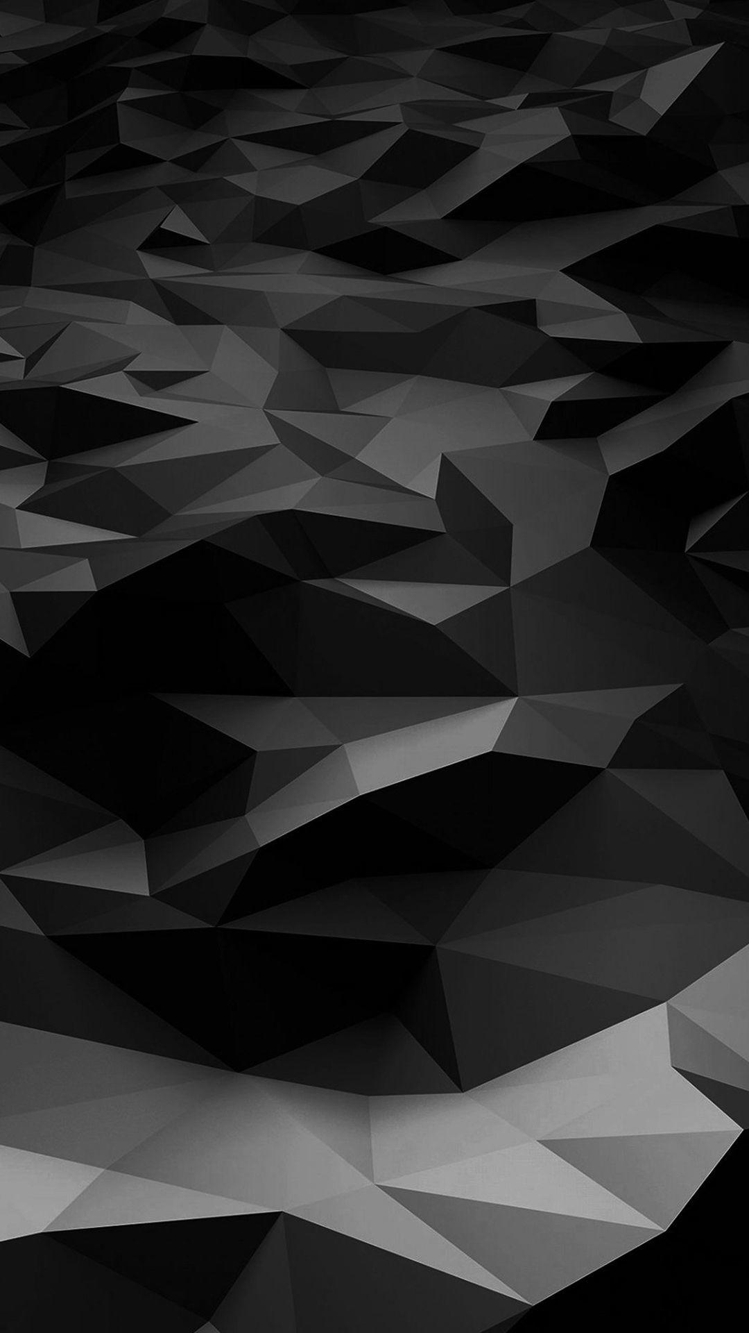 low poly art dark black pattern iphone 6 wallpapers download