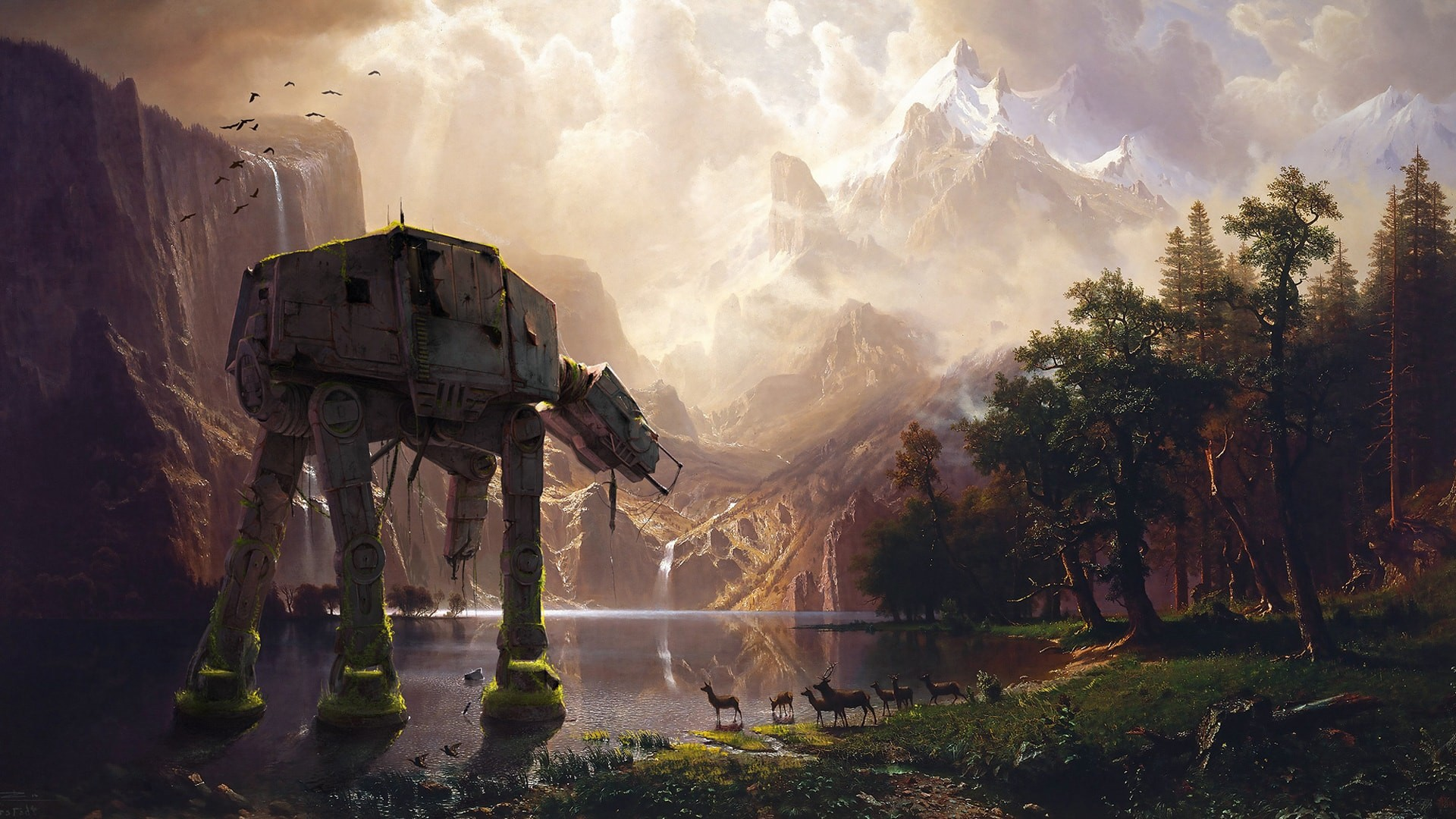 star wars giant robot concept art