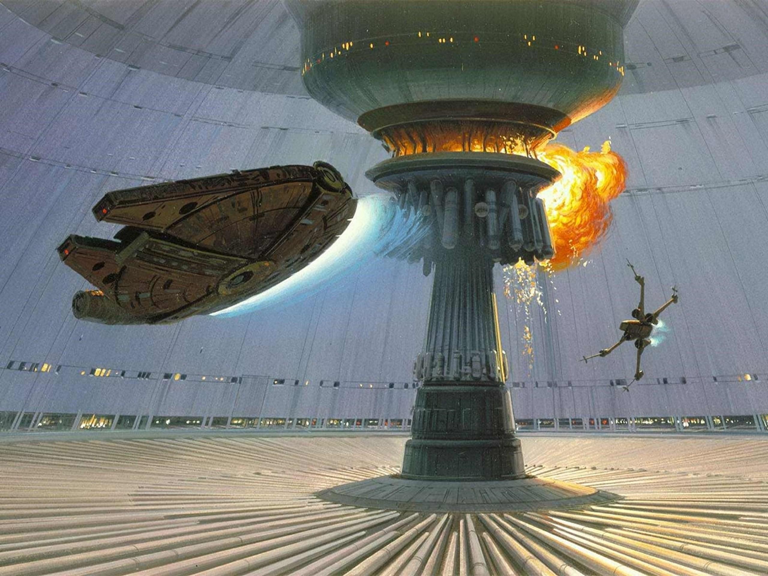 star wars explosions death star millenium falcon xwing concept art ralph  mcquarrie 1600×1200 wal Art HD