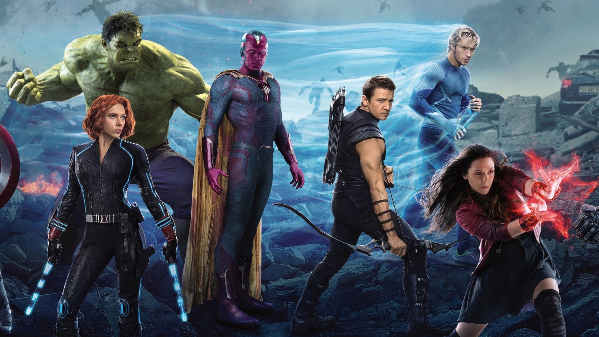 Wallpaper avengers, avengers age of ultron, thor, captain  america, black widow
