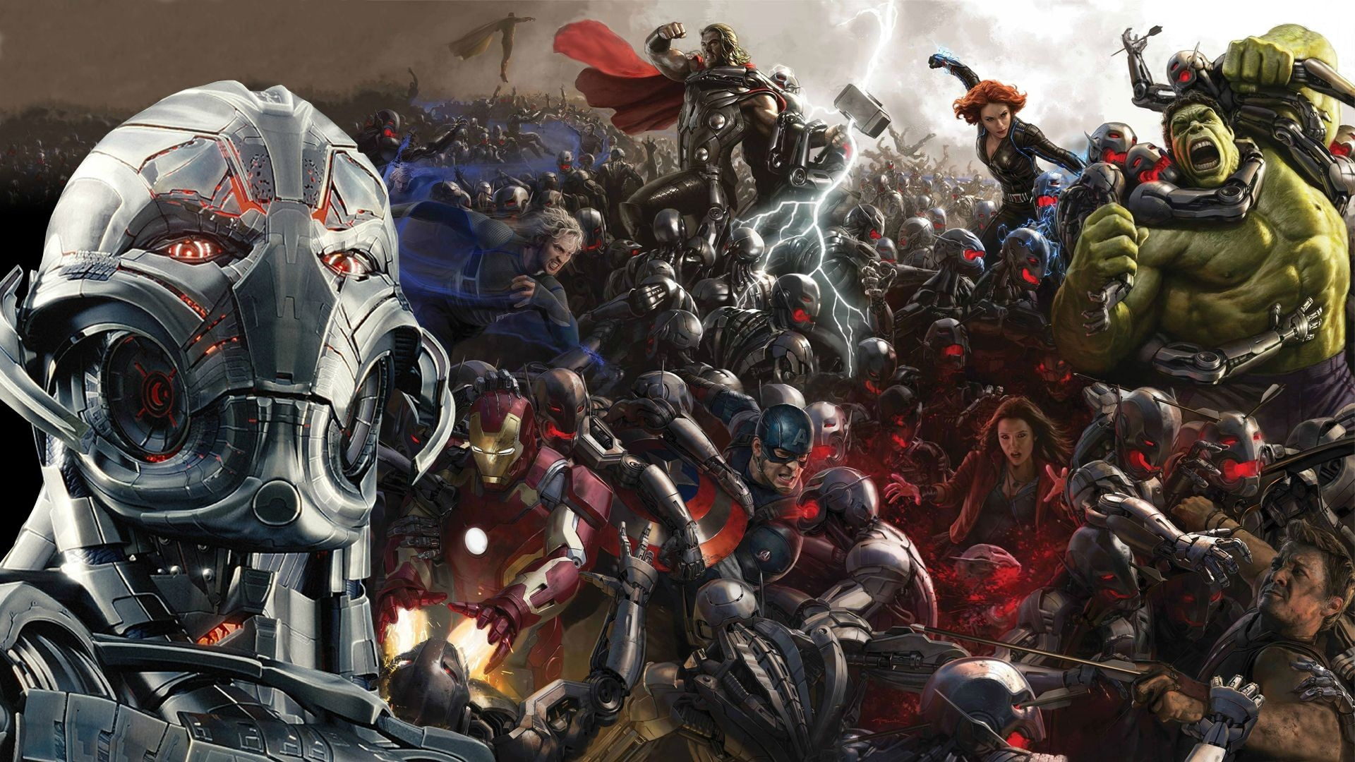 Could not find this Age of Ultron wallpaper for my resolution, decided to  combine two of them [1920×1080] …