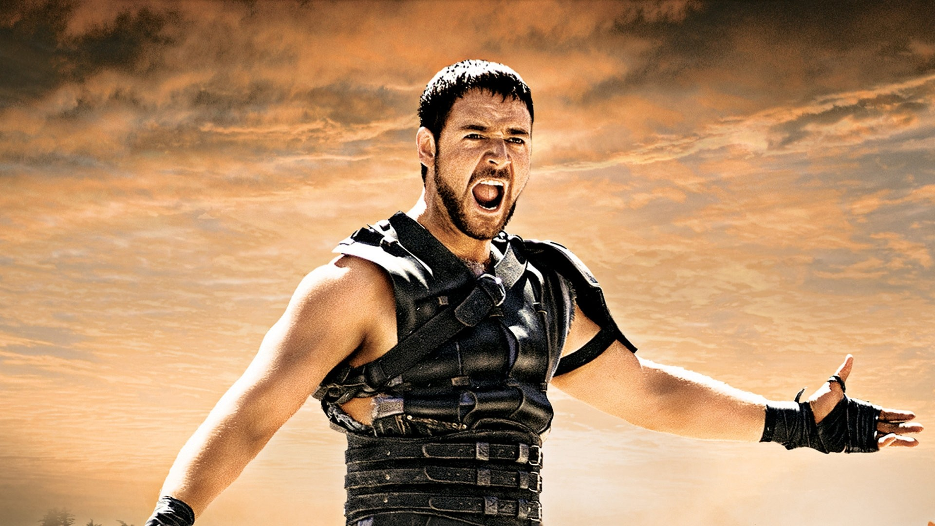 Preview wallpaper gladiator, russell crowe, maximus, warrior, shout  1920×1080