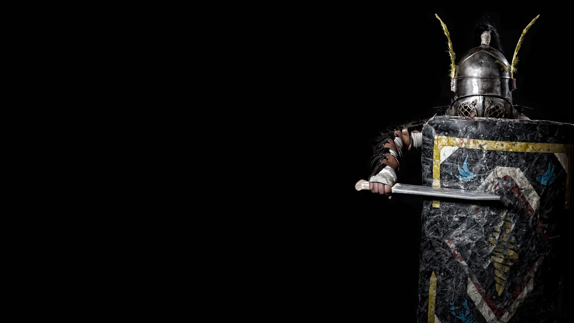 provocator provocateur gladiator armour helmet shield