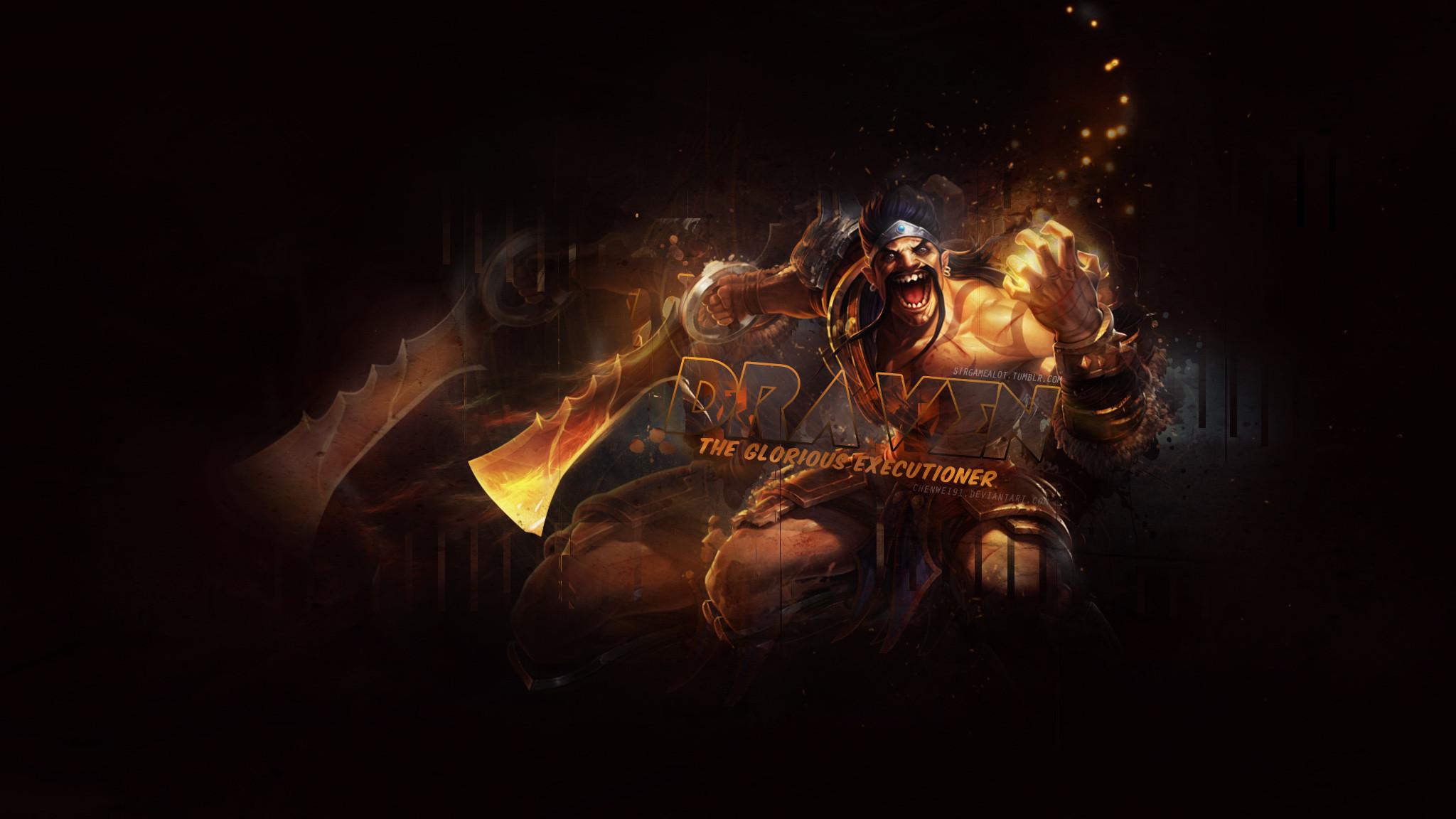 Gladiator Draven by ChenWei91 HD Wallpaper Fan Art Artwork League of  Legends lol