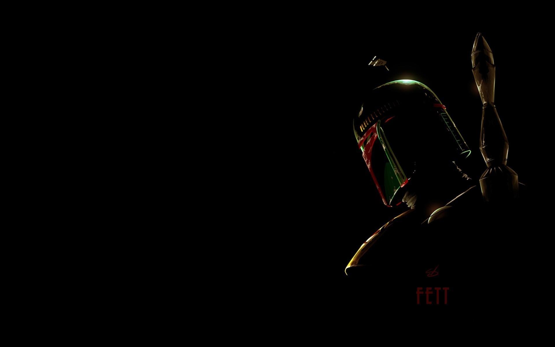 wallpaper Star Wars · silhouettes · Boba Fett