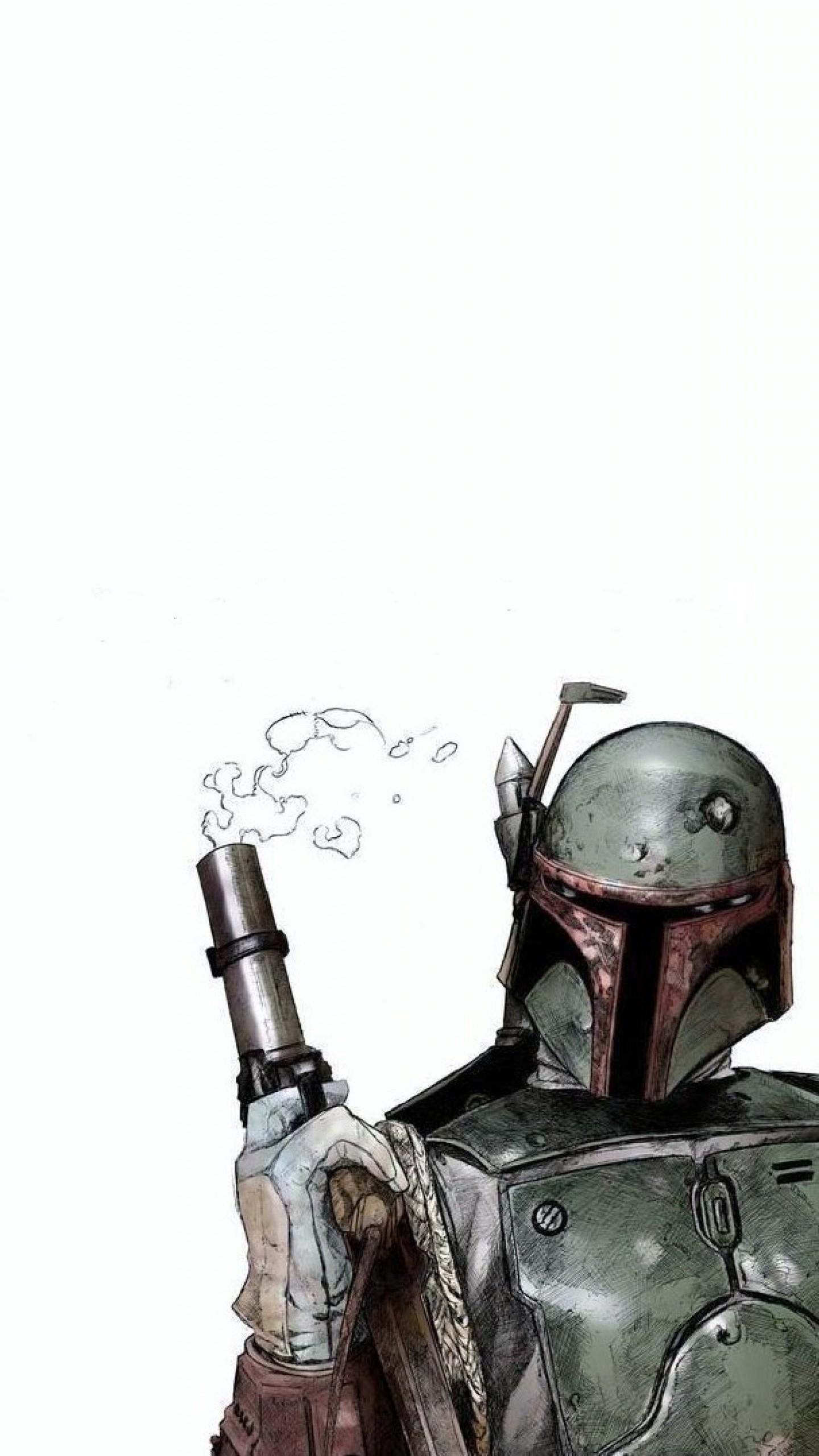 Wallpaper boba fett, star wars, comics, art, helmet