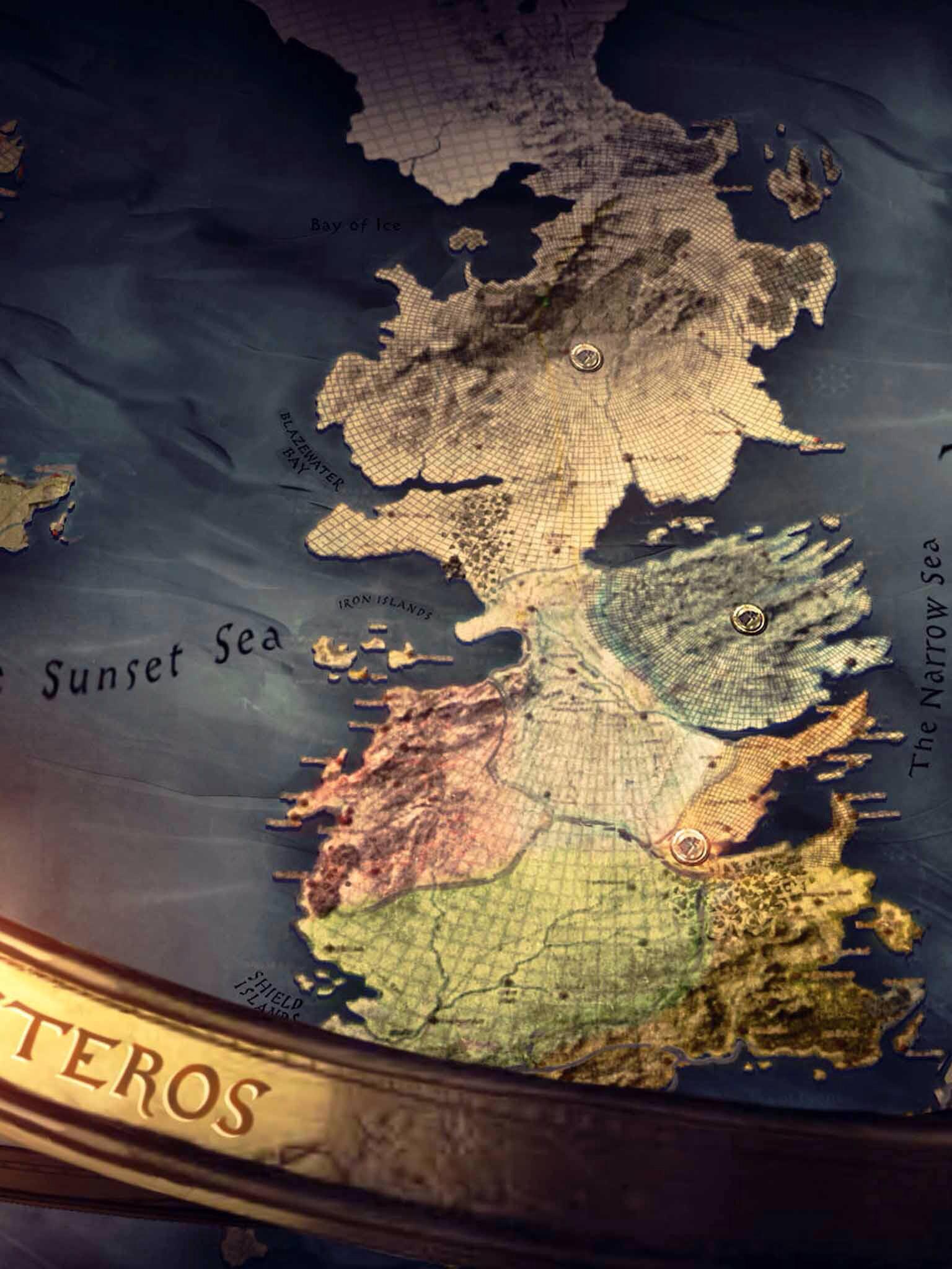 Map of Westeros iPad wallpaper.