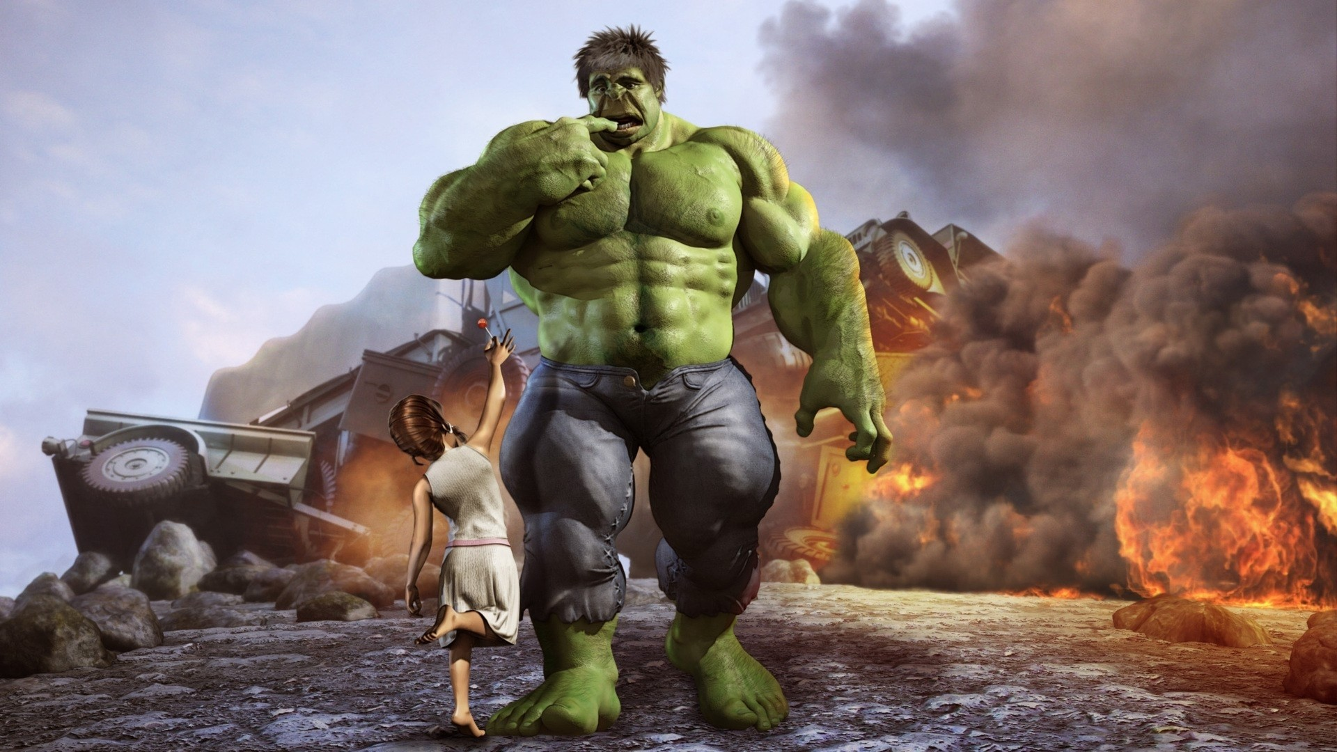 hulk comic character cgi marvel comics 3d modeling Wallpaper HD