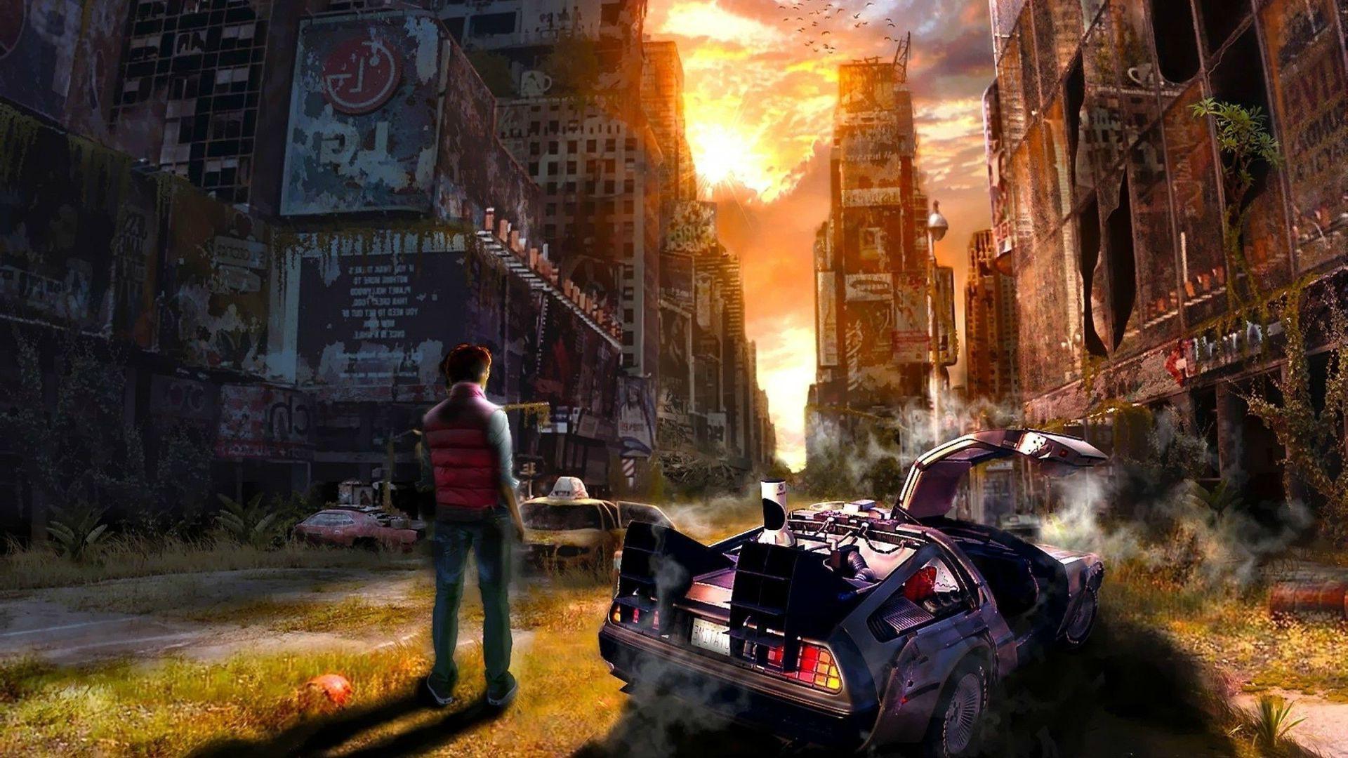 artwork, Back To The Future, Fantasy Art, DeLorean, Digital Art, Concept  Art, Time Wallpapers HD / Desktop and Mobile Backgrounds