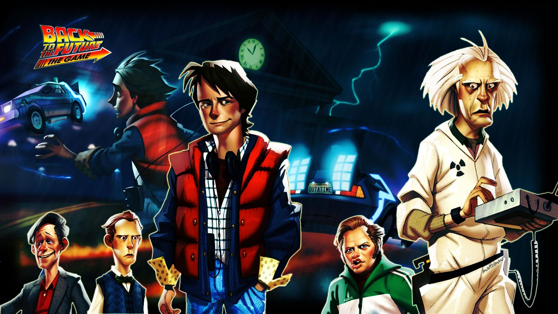 Wallpaper back to the future the game, telltale games, pc, ipad,