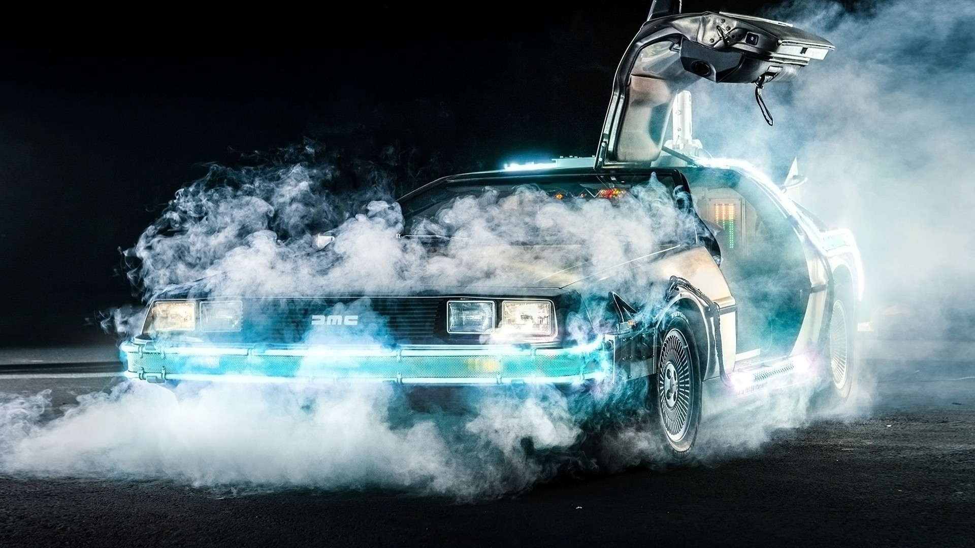 Back To The Future, DeLorean, Time Travel, Car, Movies, Smoke Wallpapers HD  / Desktop and Mobile Backgrounds
