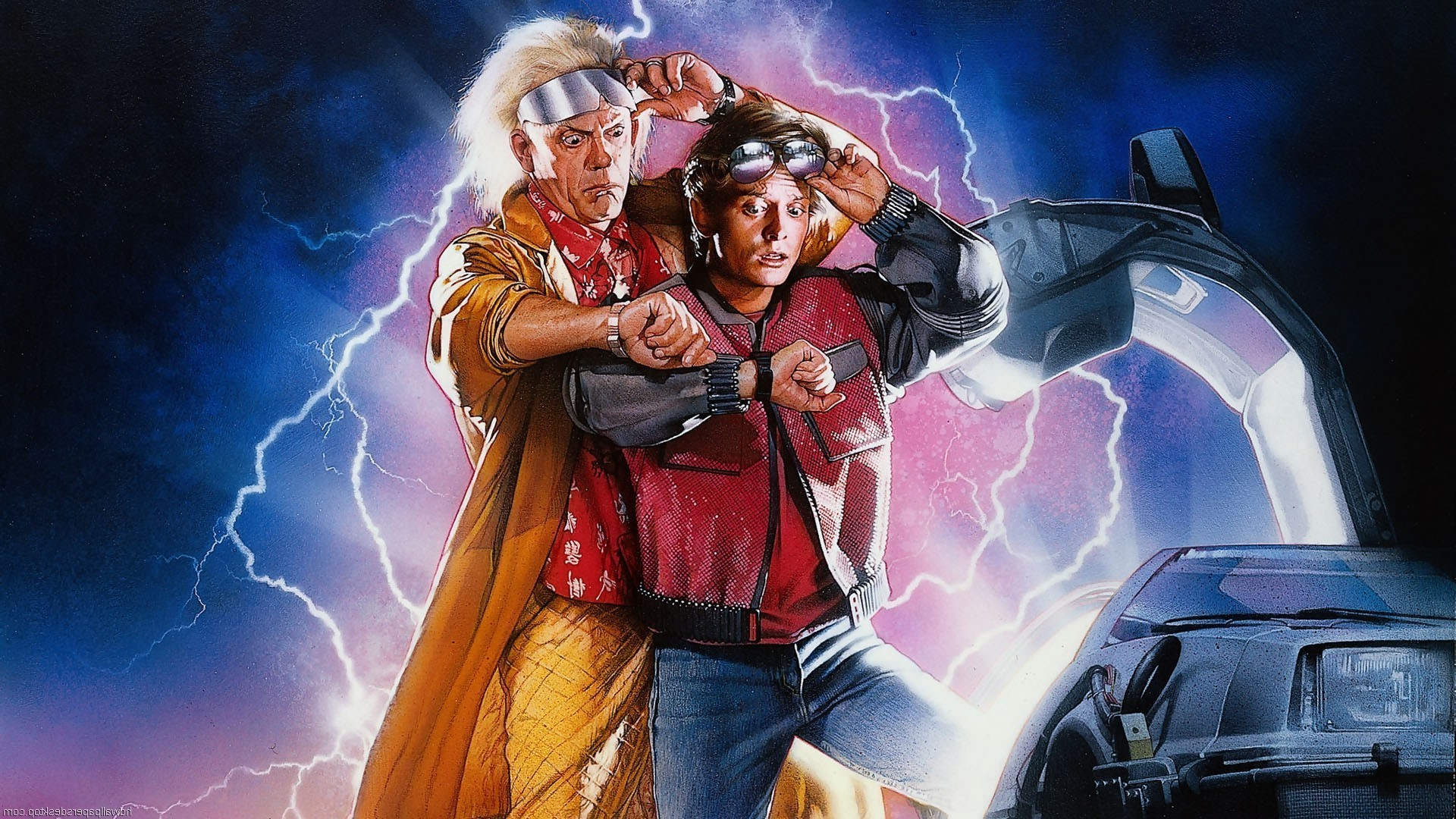 DeLorean, Time Travel, Back To The Future, Michael J. Fox, Christopher  Lloyd, Movies, Lightning, Car Wallpapers HD / Desktop and Mobile Backgrounds