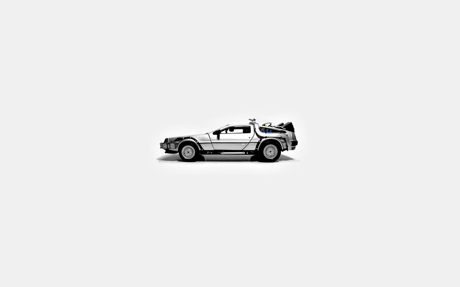 Back To The Future, DeLorean, Simple Background Wallpapers HD / Desktop and  Mobile Backgrounds