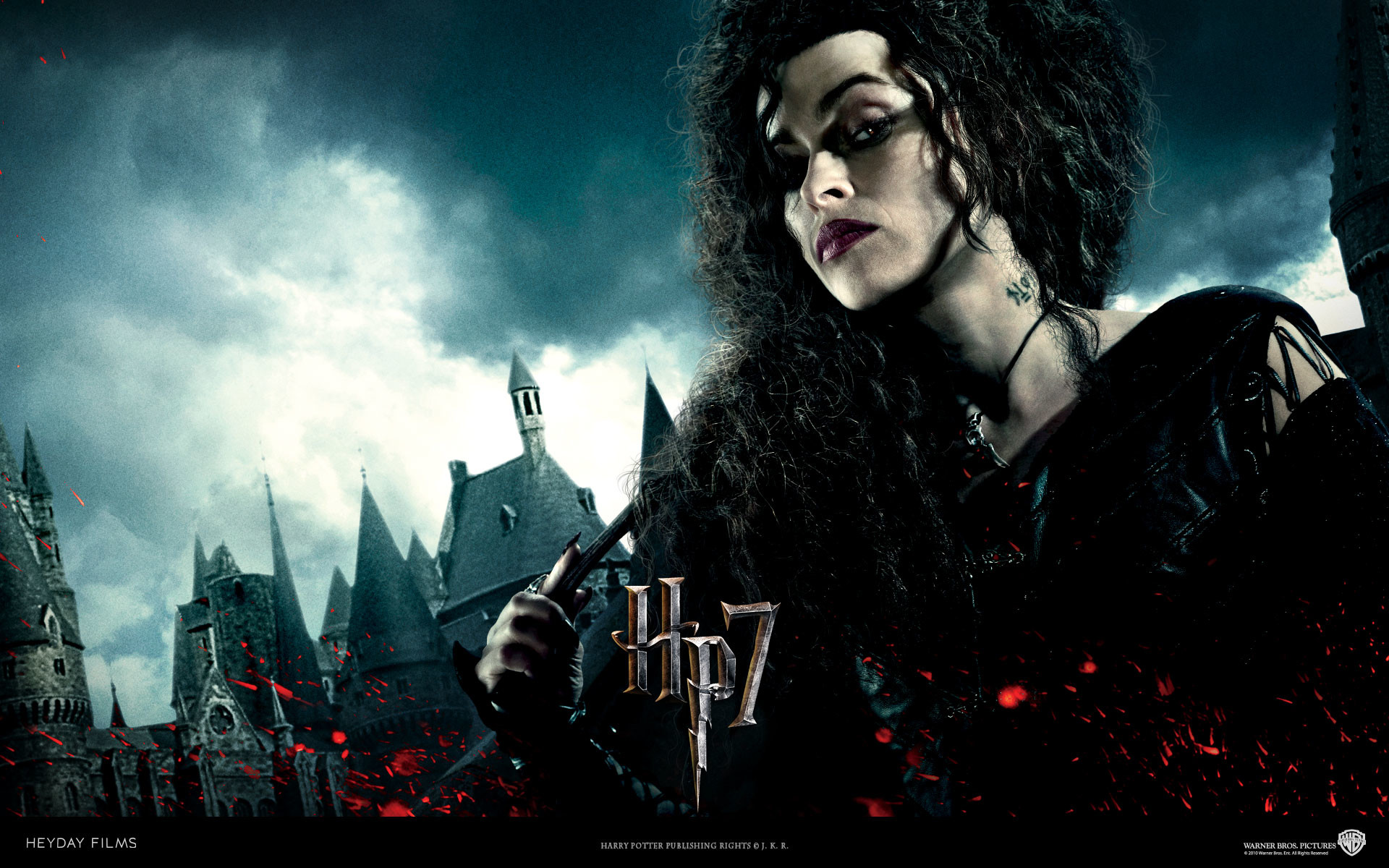 witch Bellatrix Lestrange from Harry Potter and the Deathly Hallows movie  wallpaper