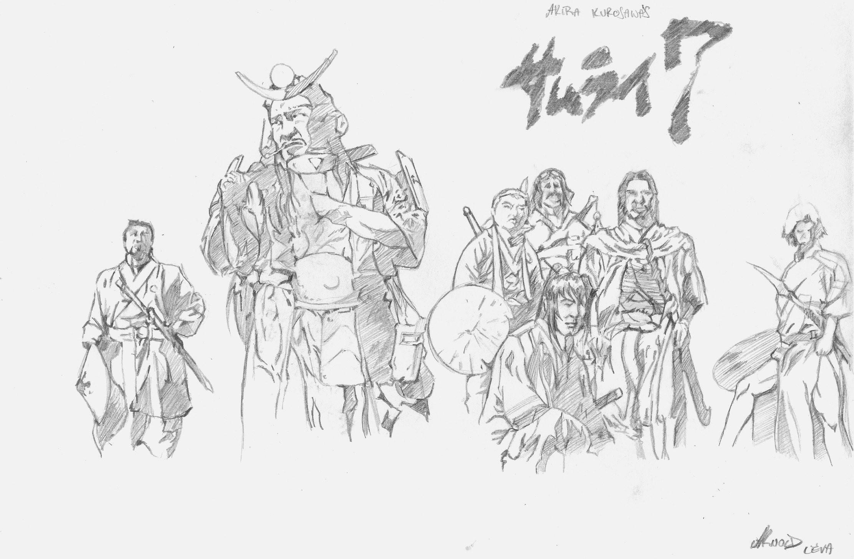 Samurai 7 or Seven Samurai by al3va …