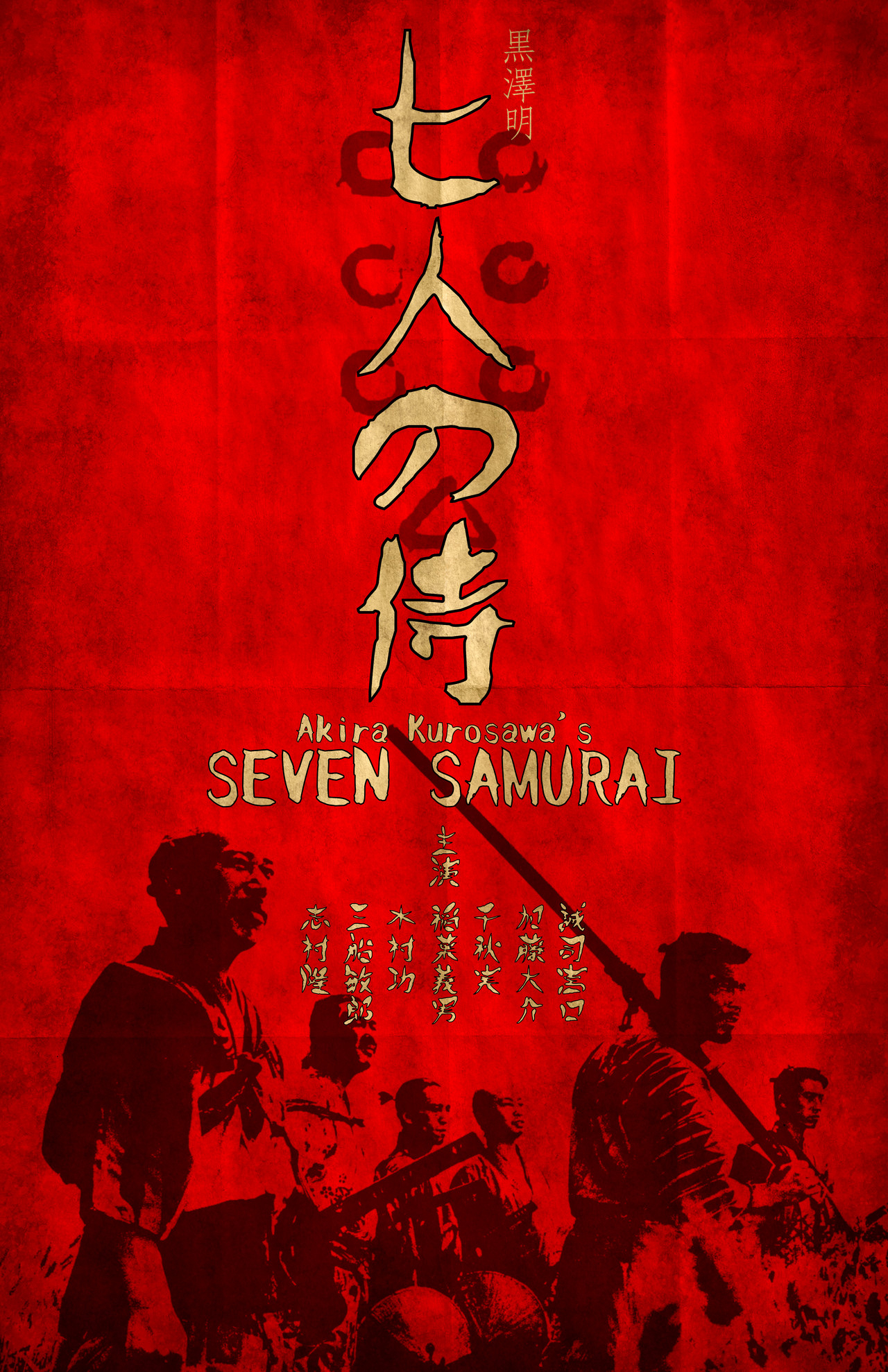 … Seven Samurai Poster LARGE by tikiman-akuaku