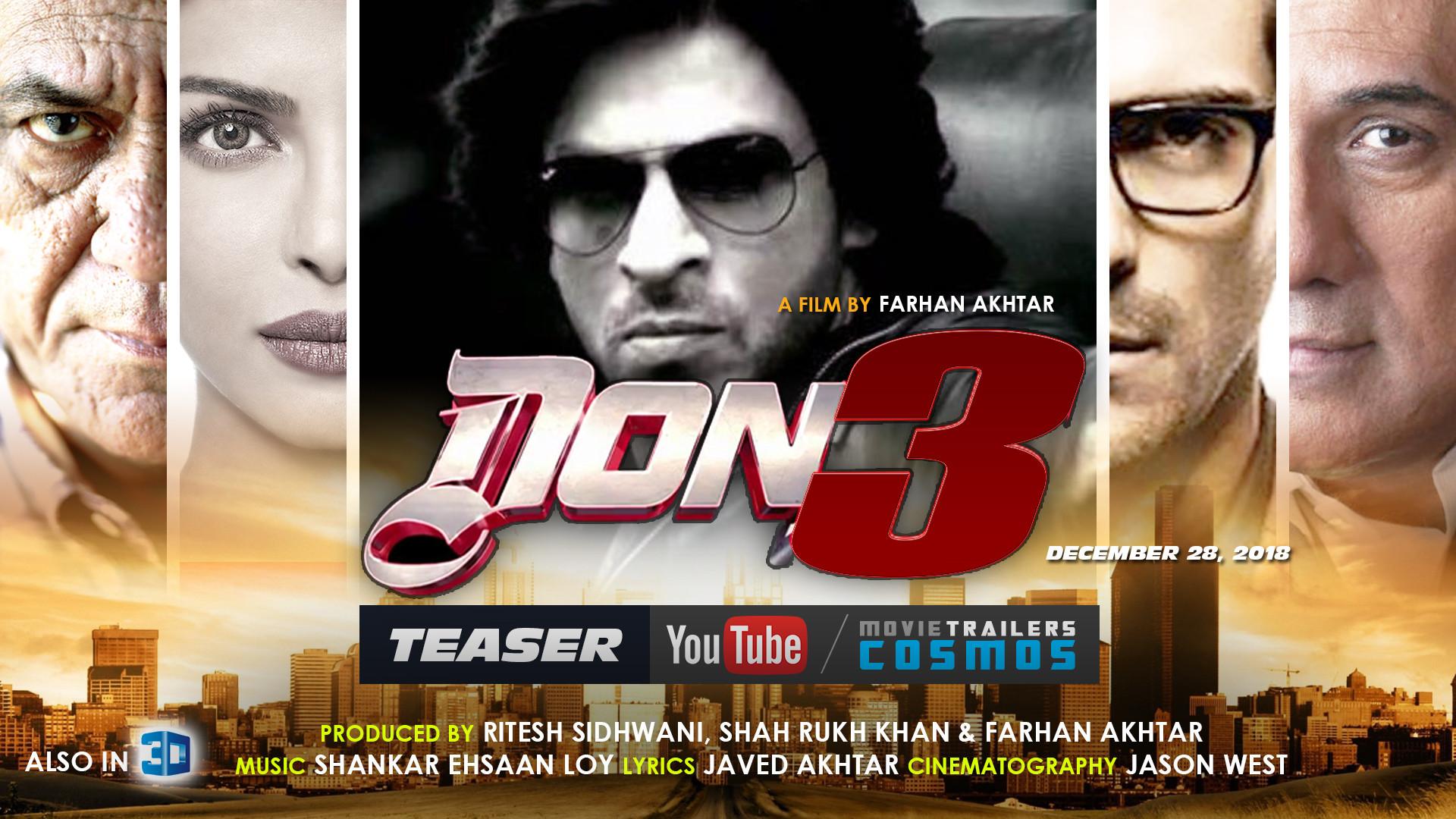 Don 3 Movie Wallpaper, Full HD wallpaper of Shahrukh Khan, Don 3 Desktop  Wallpaper