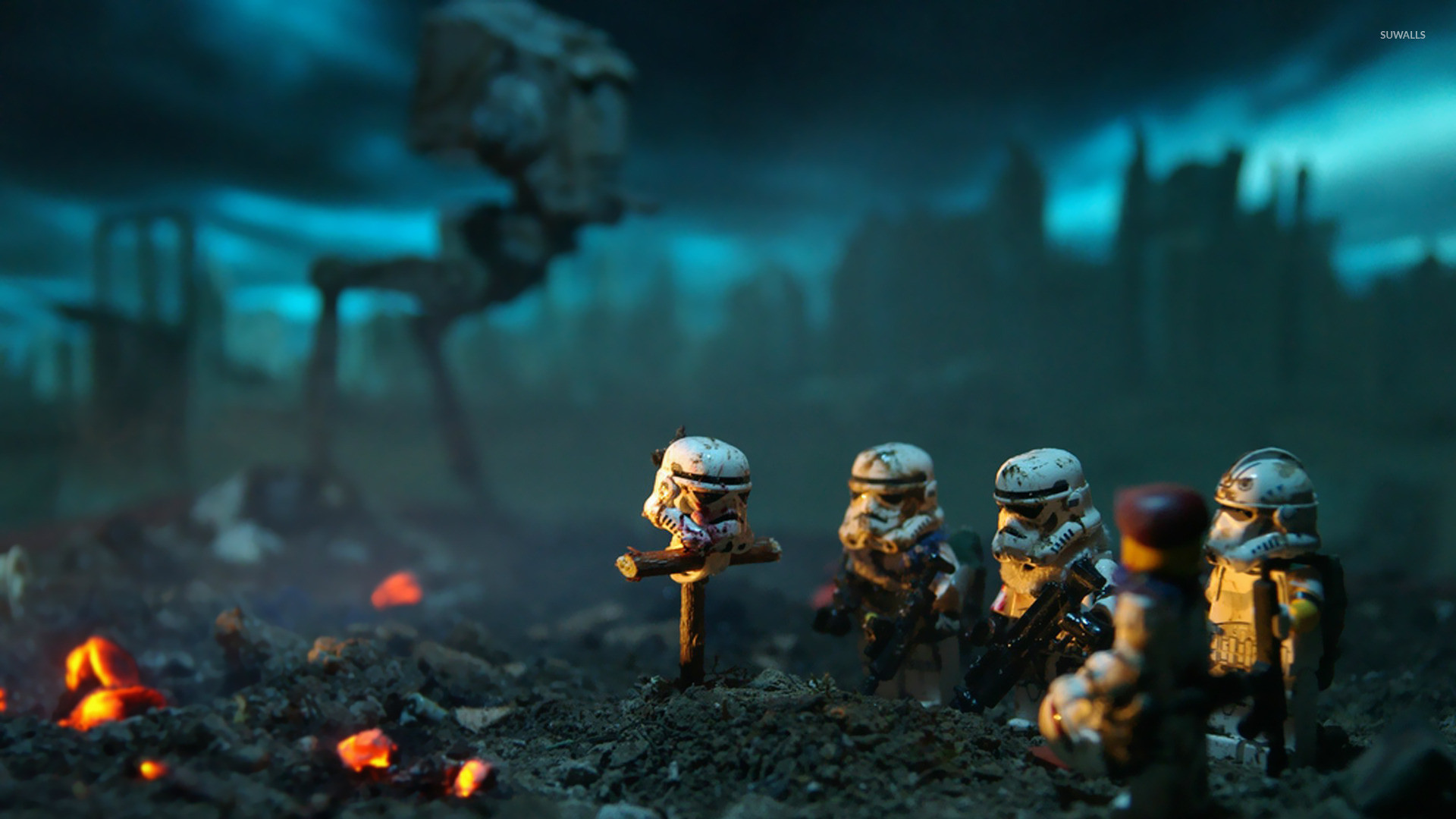 LEGO Stormtrooper burial wallpaper jpg