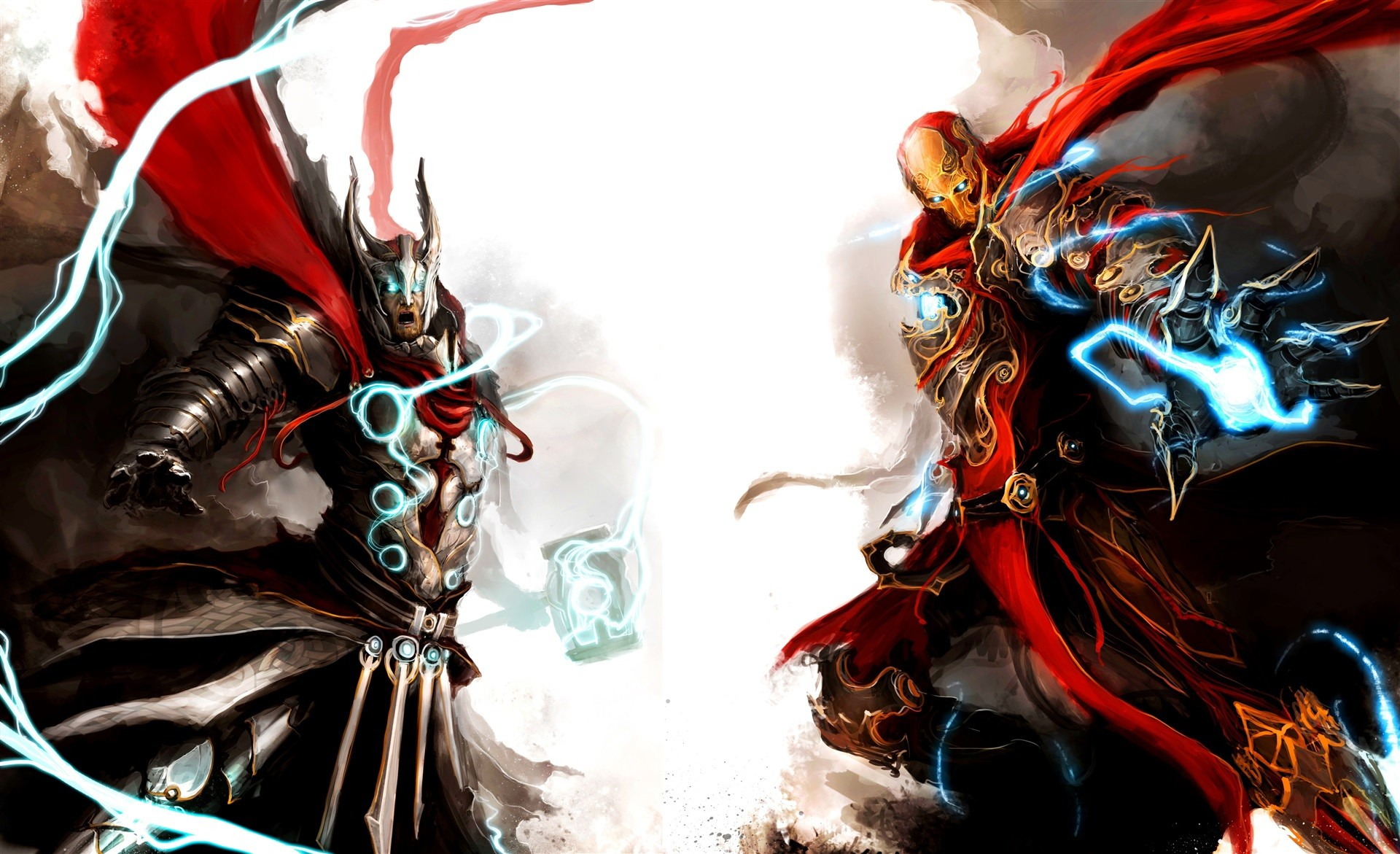 4K wallpaper – Fantasy – iron man, marvel, Avengers, Thor, torus .