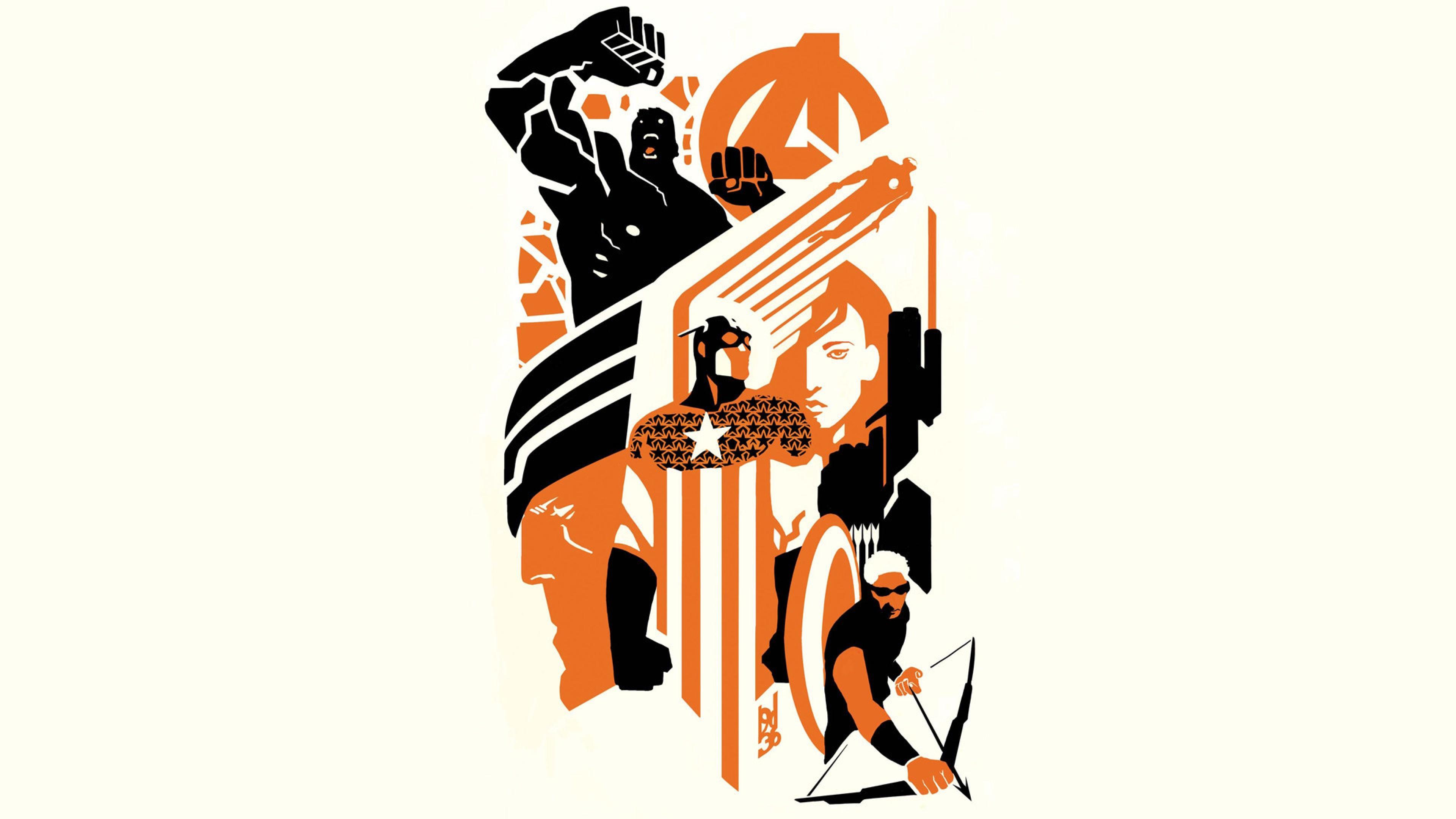 Preview wallpaper marvel, marvel comics, avengers, iron man, thor, captain  america