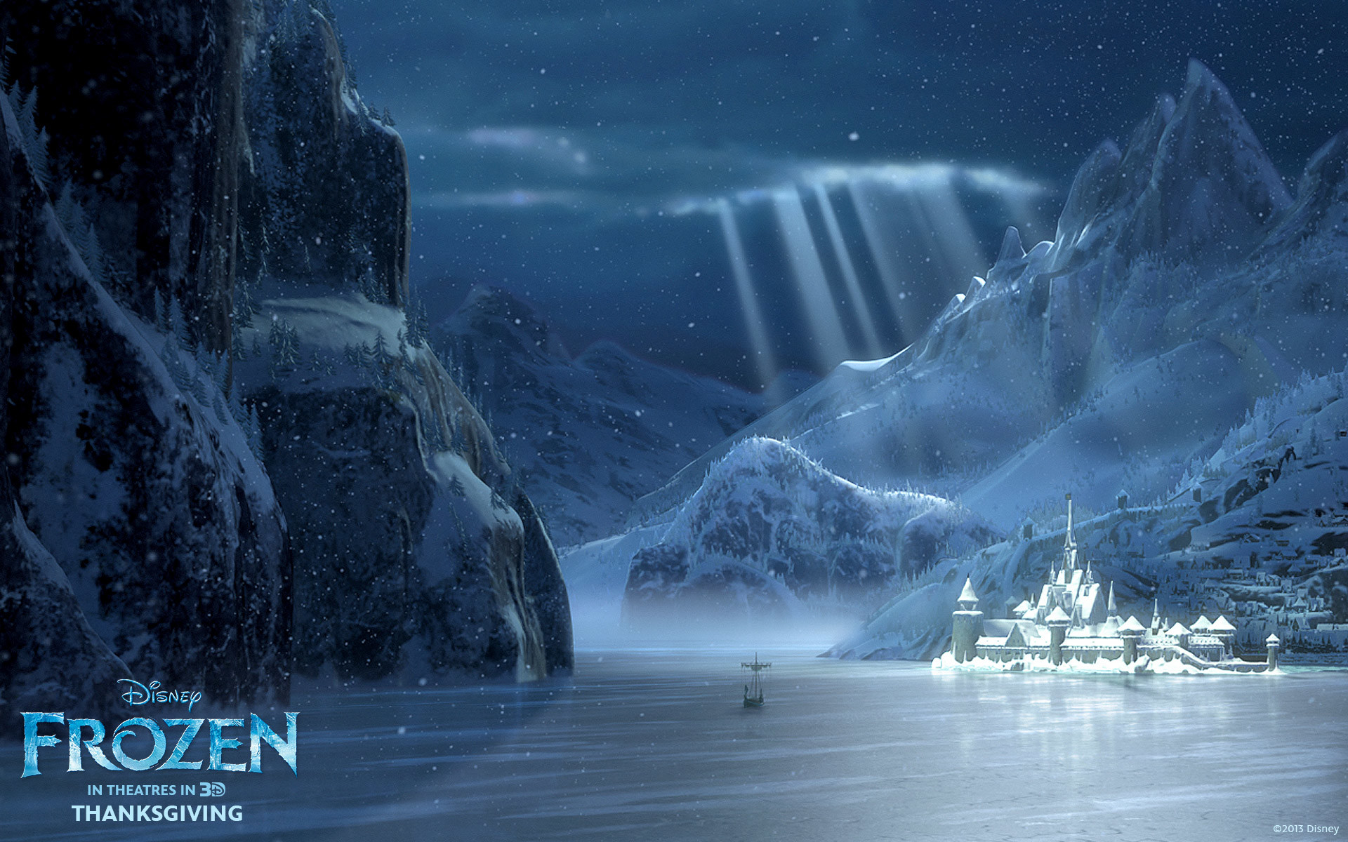 Arendelle in Winter from Disney's Frozen wallpaper – Click picture for high  resolution HD wallpaper