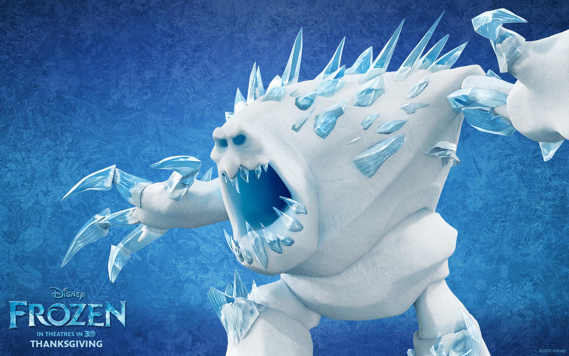 Marshmallow snow creature from Disney movie Frozen wallpaper