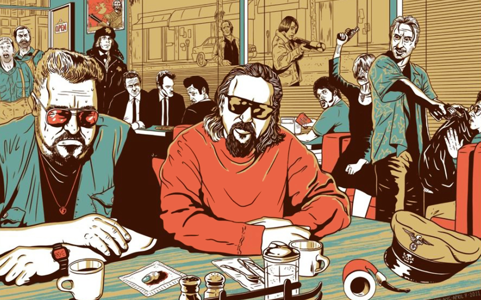 Reservoir dogs the big lebowski no country for old men fargo inglorious  basterds wallpaper     9200   WallpaperUP