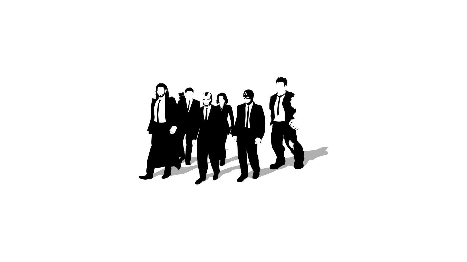 Minimalistic Reservoir Dogs artwork simple background Avengers wallpaper      261655   WallpaperUP
