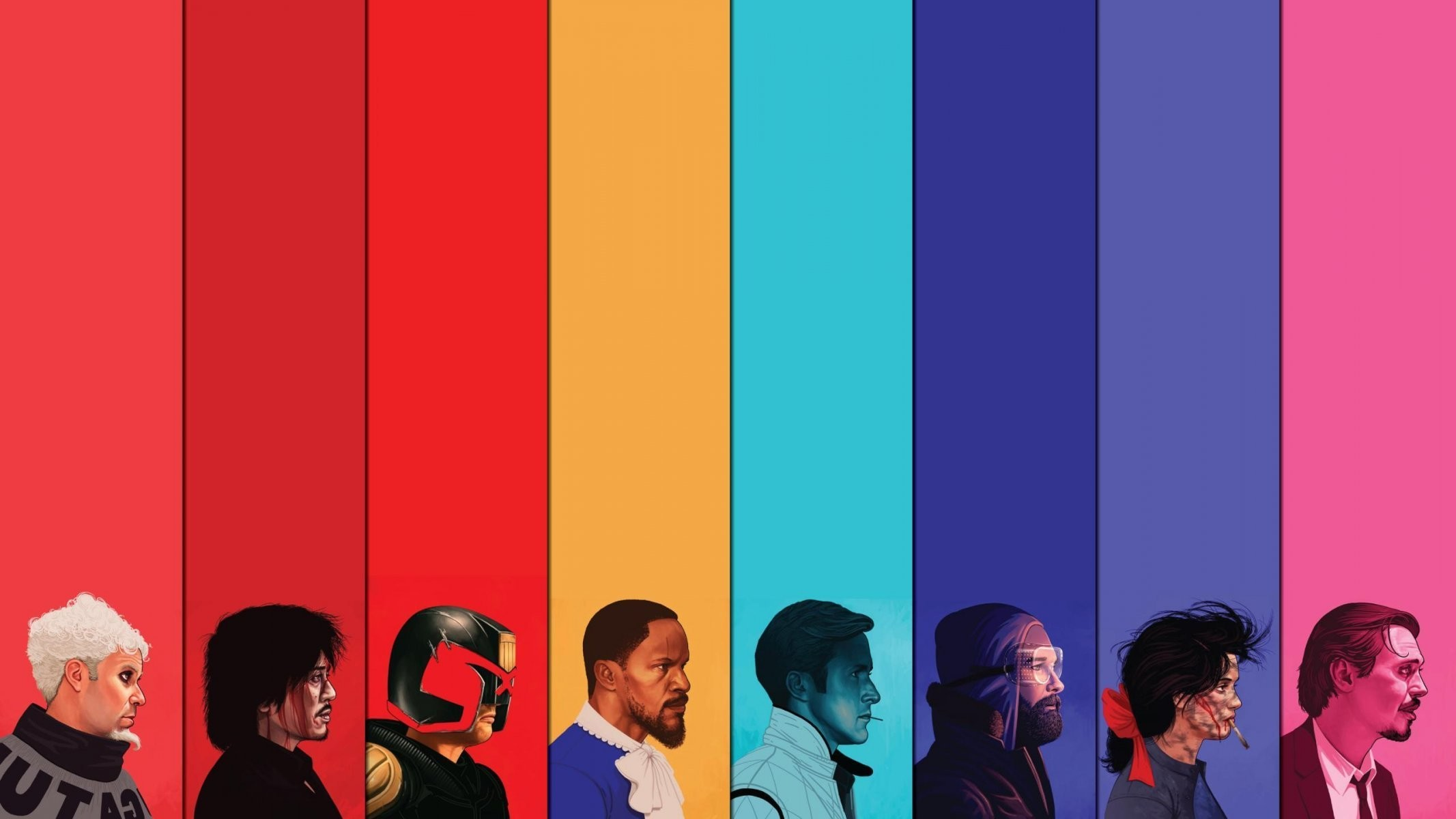 mike mitchell zoolander oldboy judge dredd django unchained drive the thing  heathers reservoir dogs portrait