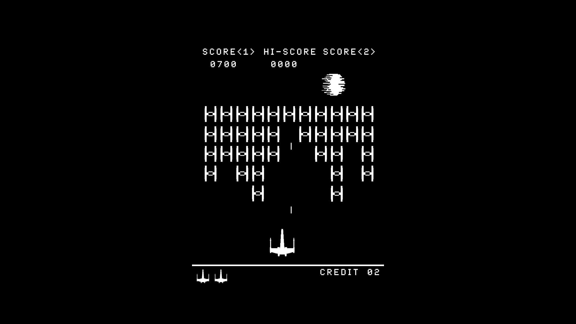 Abstract star wars arcade death star video space invaders atari .