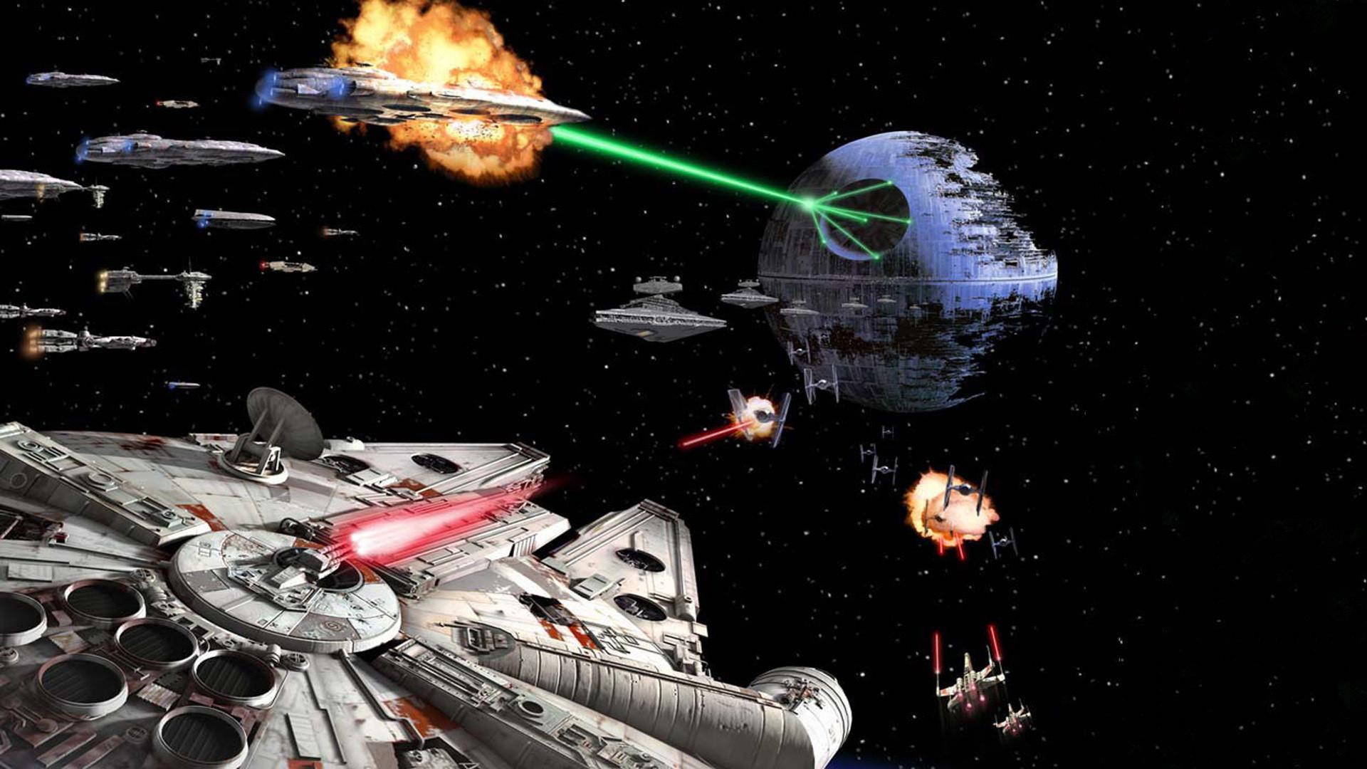 Attack on Death Star Wallpaper.