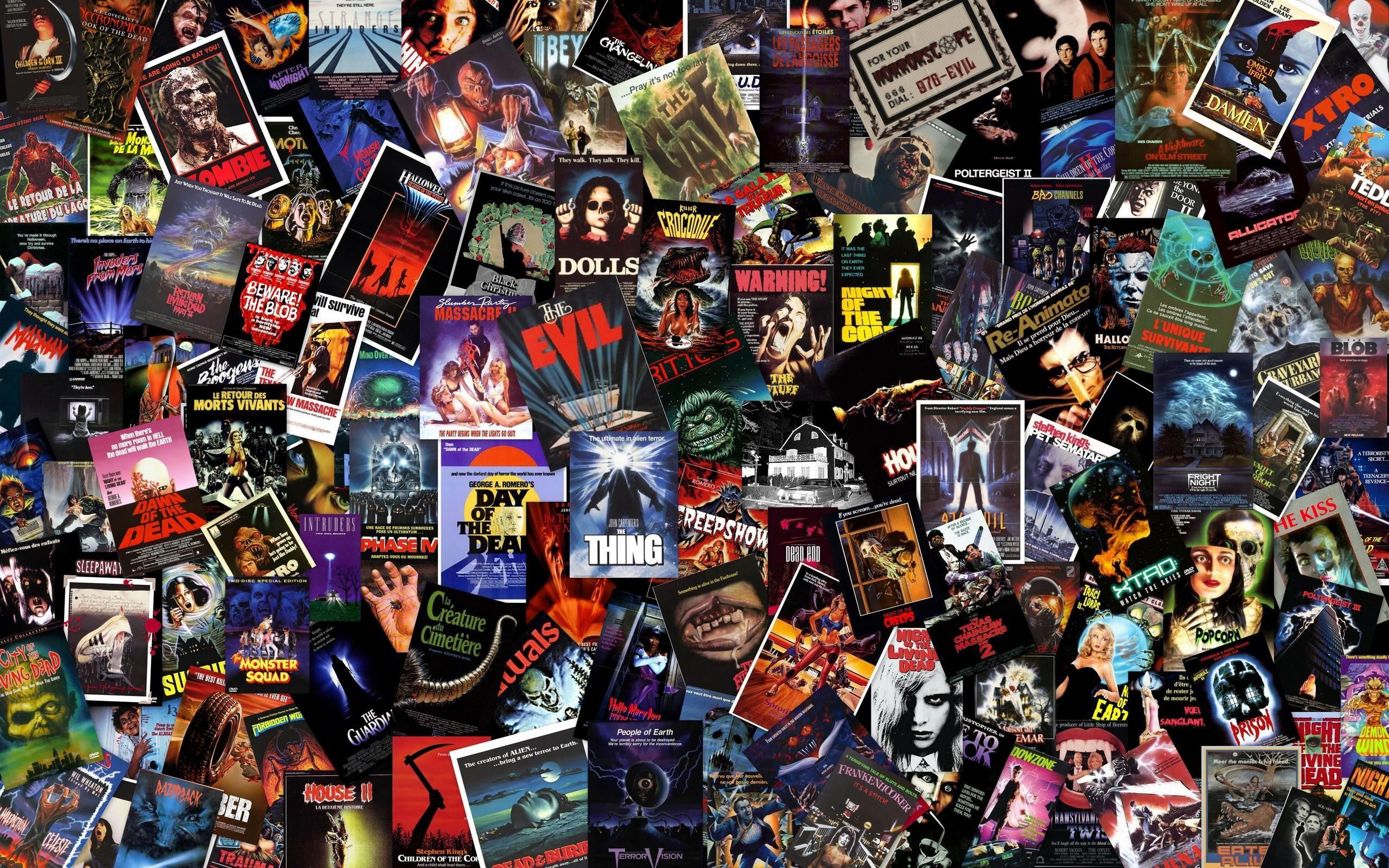 Massive B-Horror Collage Wallpaper – Horror Movies Wallpaper .