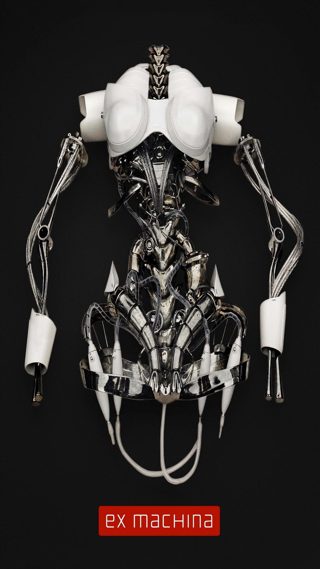 Ex Machina Movie Poster Robot Skeleton iPhone 6 Plus HD Wallpaper – https://