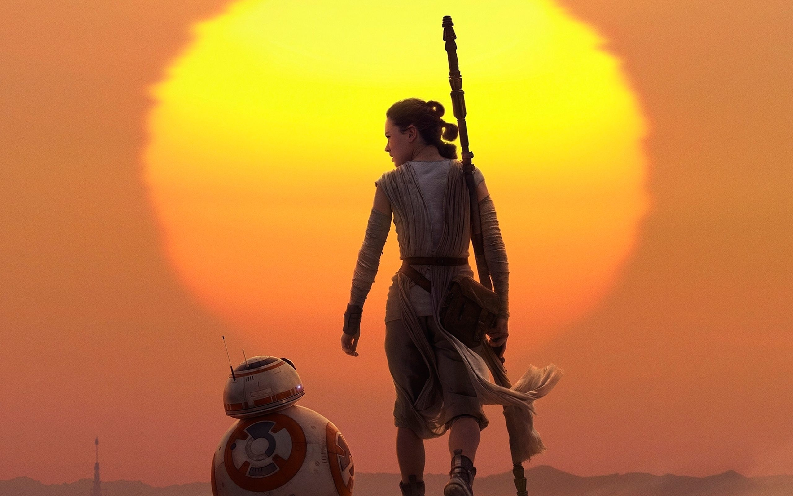 Rey & BB 8 Star Wars The Force Awakens Wallpapers
