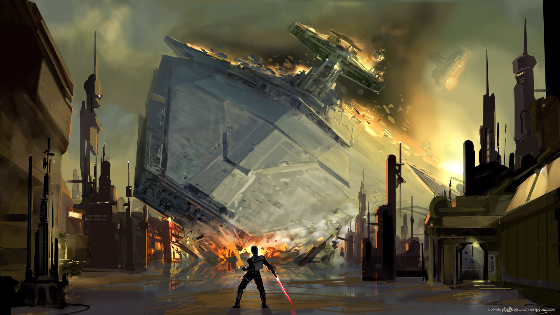 SWTFU Star Destroyer force pull picture