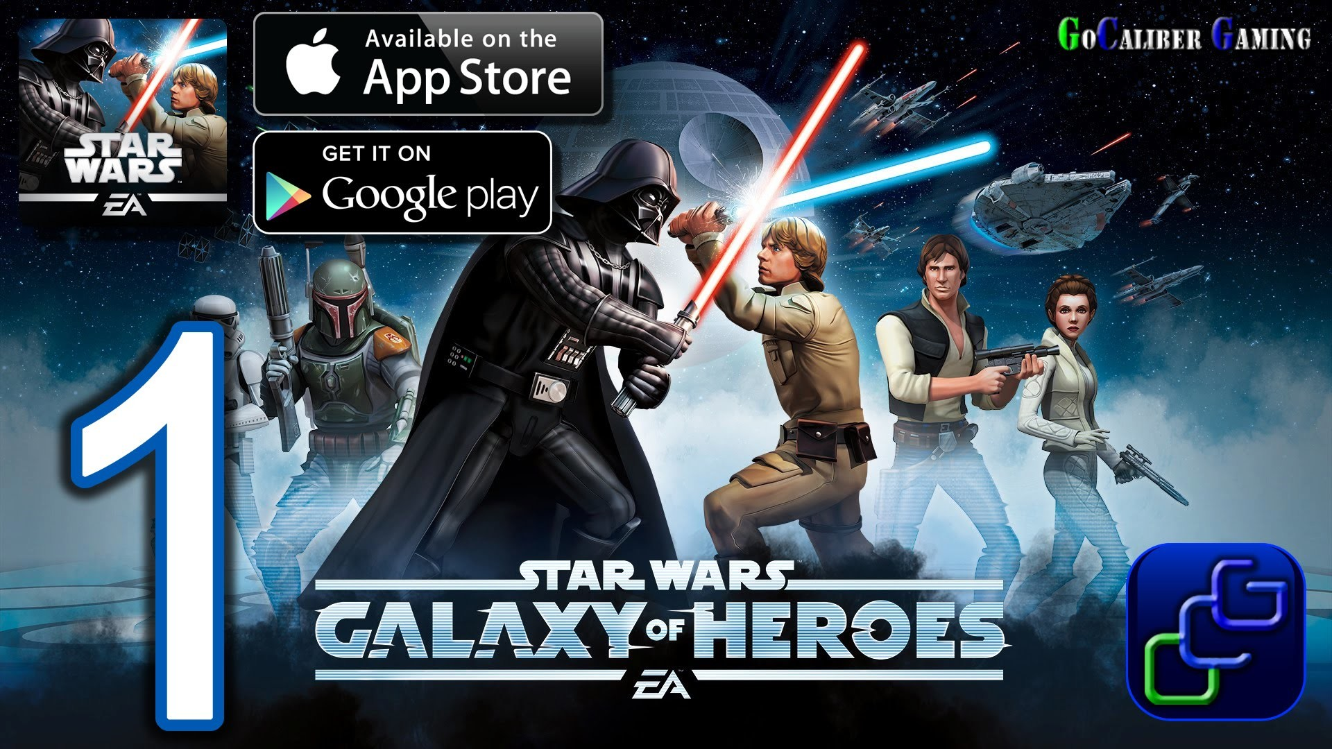STAR WARS: Galaxy of Heroes Android iOS Walkthrough – Gameplay Part 1 –  Light Side Battles 1 – YouTube