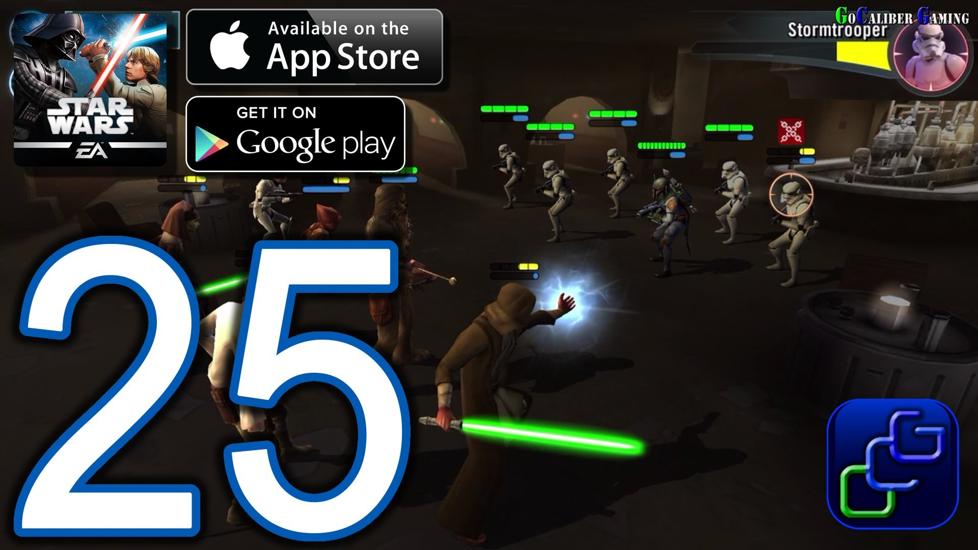 STAR WARS Galaxy of Heroes Android iOS Walkthrough – Part 25 – Light Side  Battle (NORMAL)
