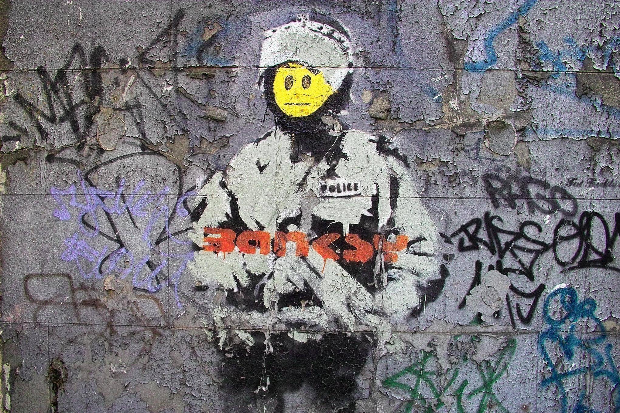 <b>Banksy Wallpaper</b> Murals By WallArt-Direct.co